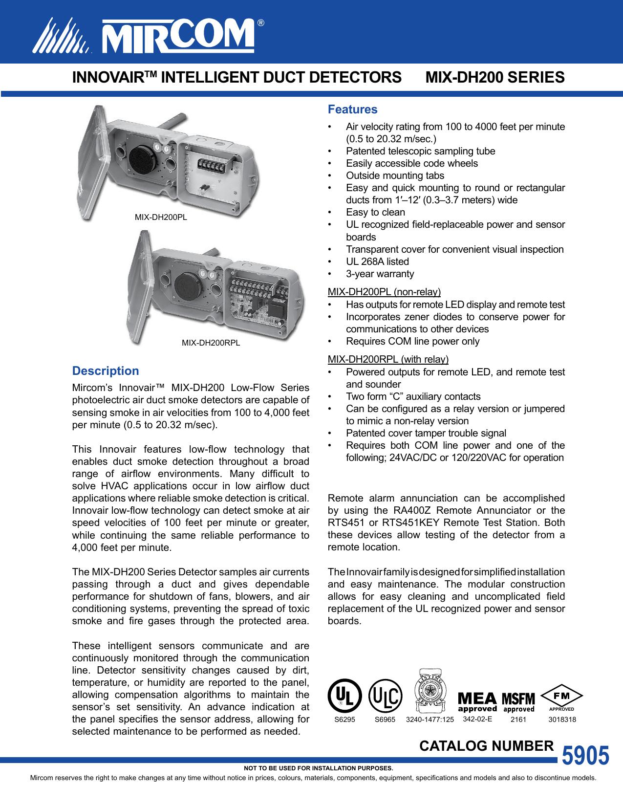 Innovair Duct Detector Wiring Diagram