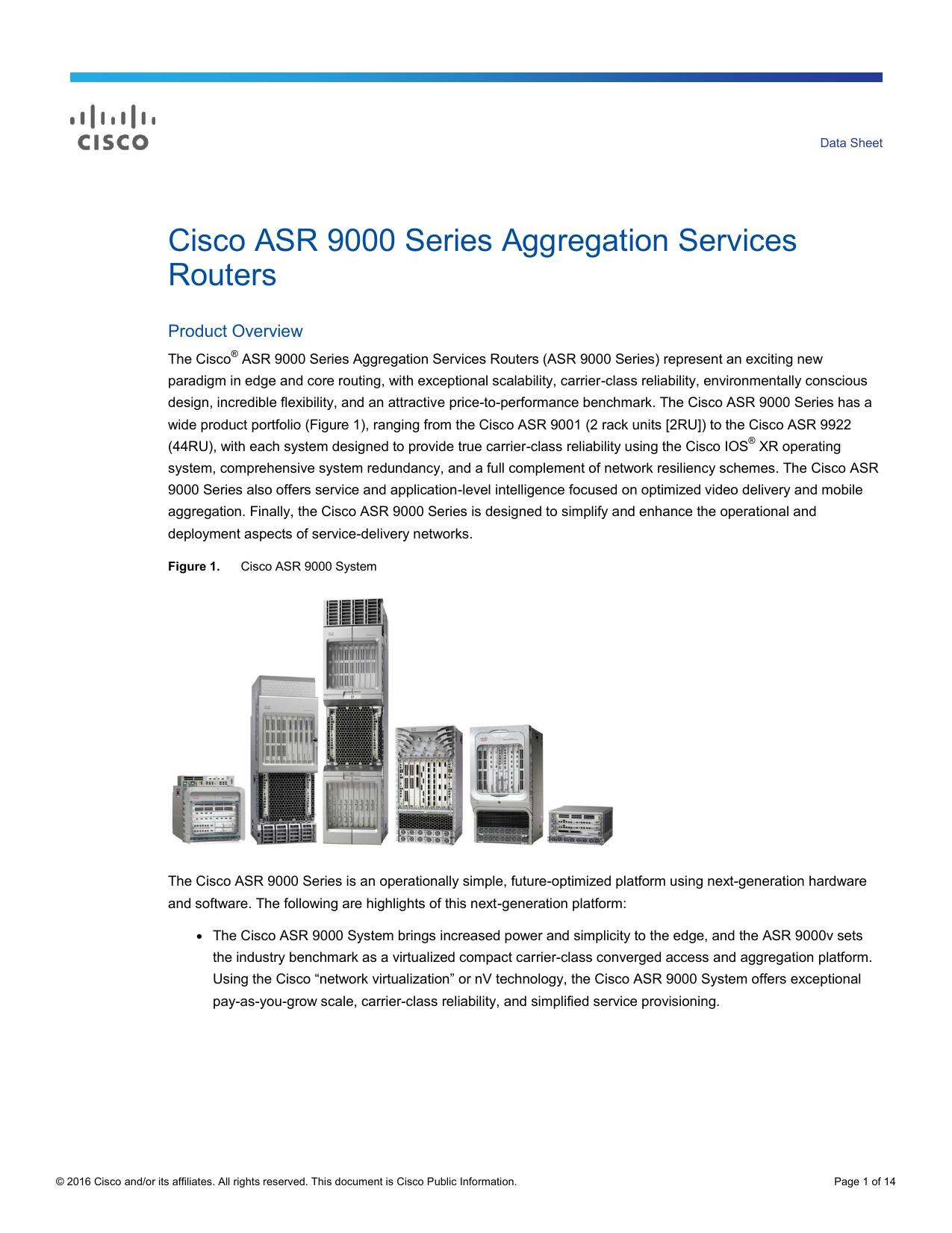 Cisco ASR 9000 Series Aggregation Services Routers