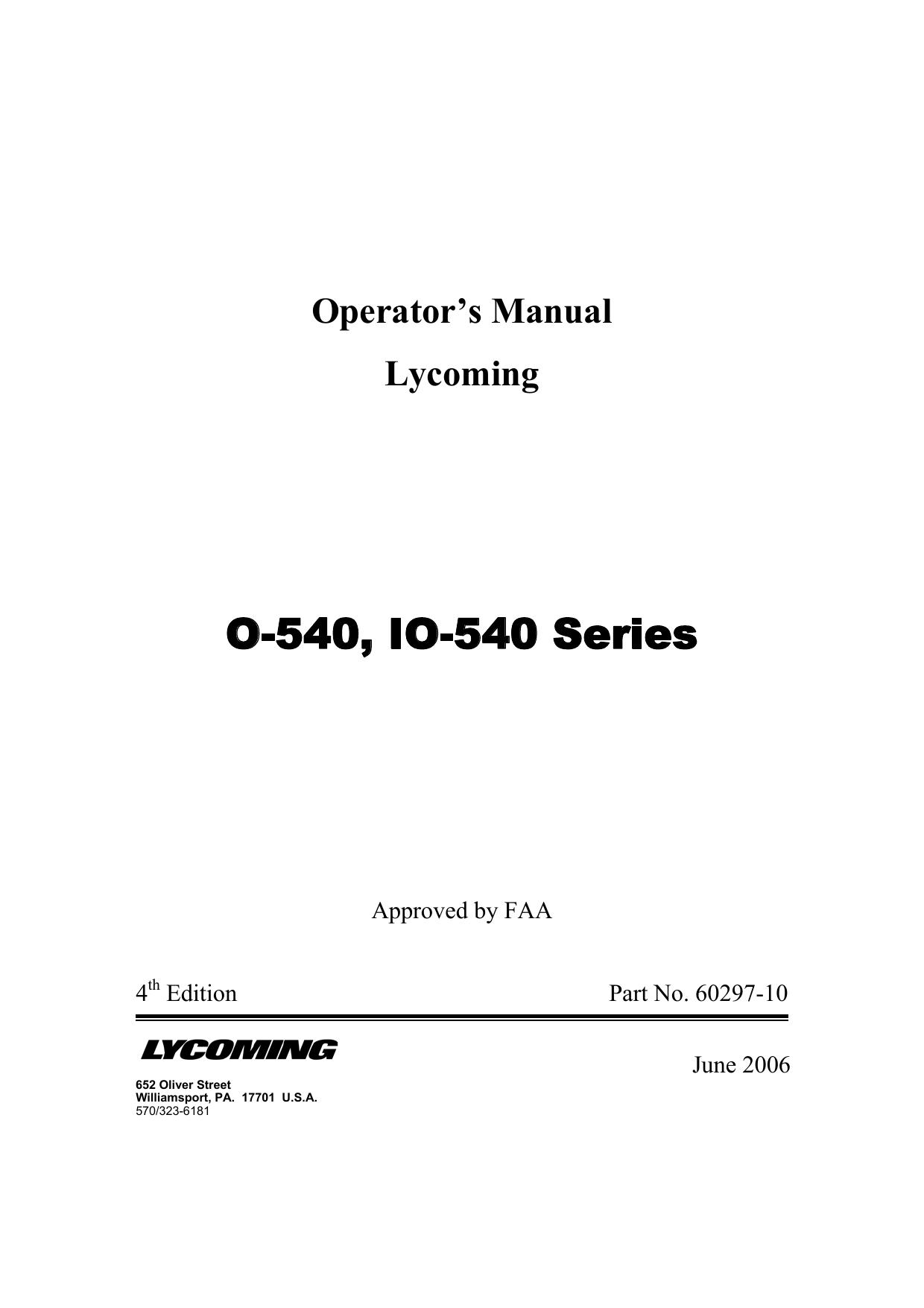 O-540, IO-540 Series | manualzz com