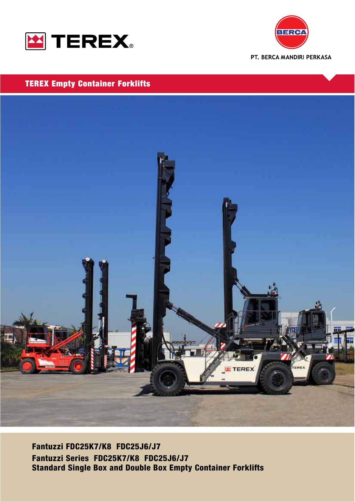 TEREX Empty Container Forklifts Fantuzzi | manualzz.com on