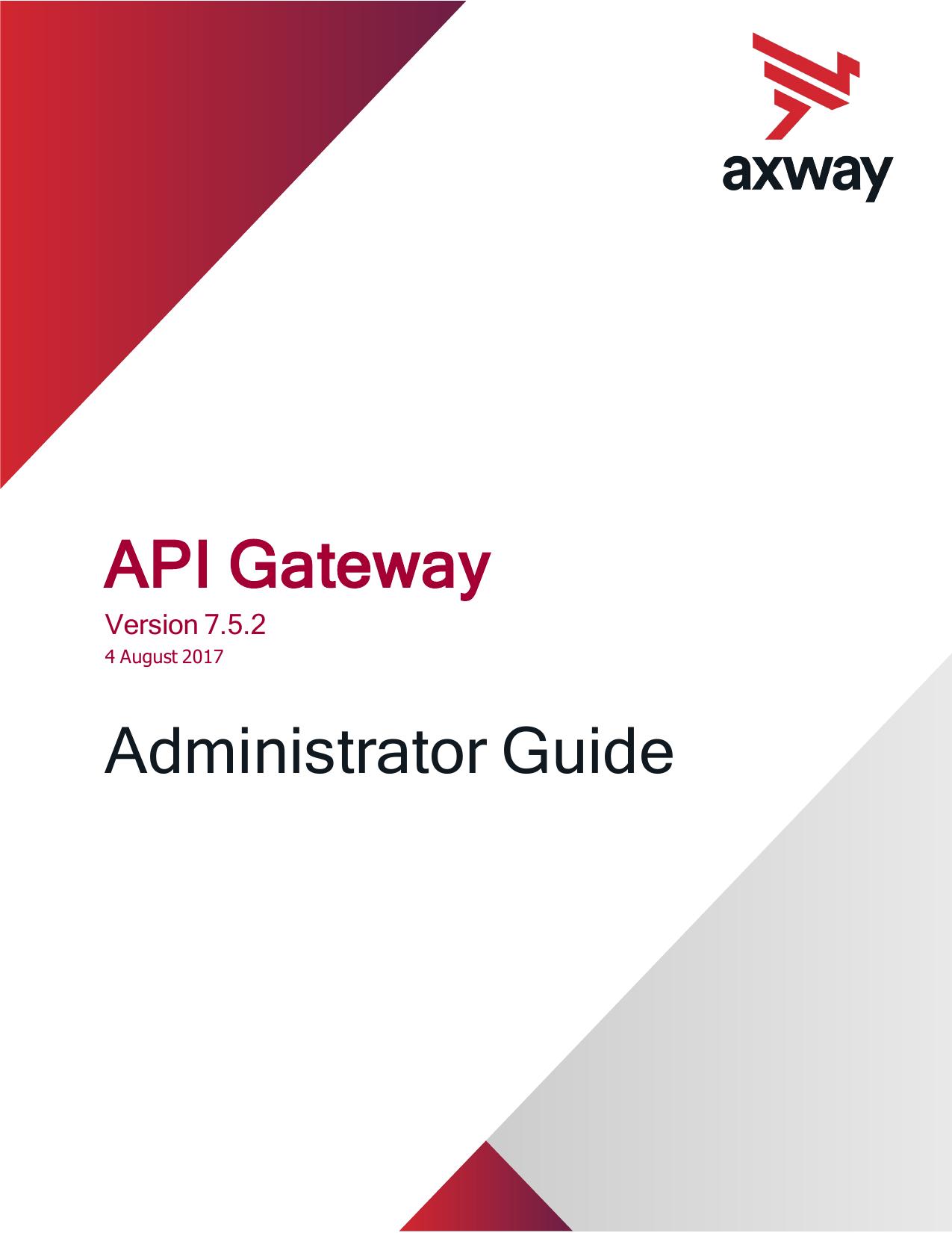 Axway API Gateway Administrator Guide | manualzz com
