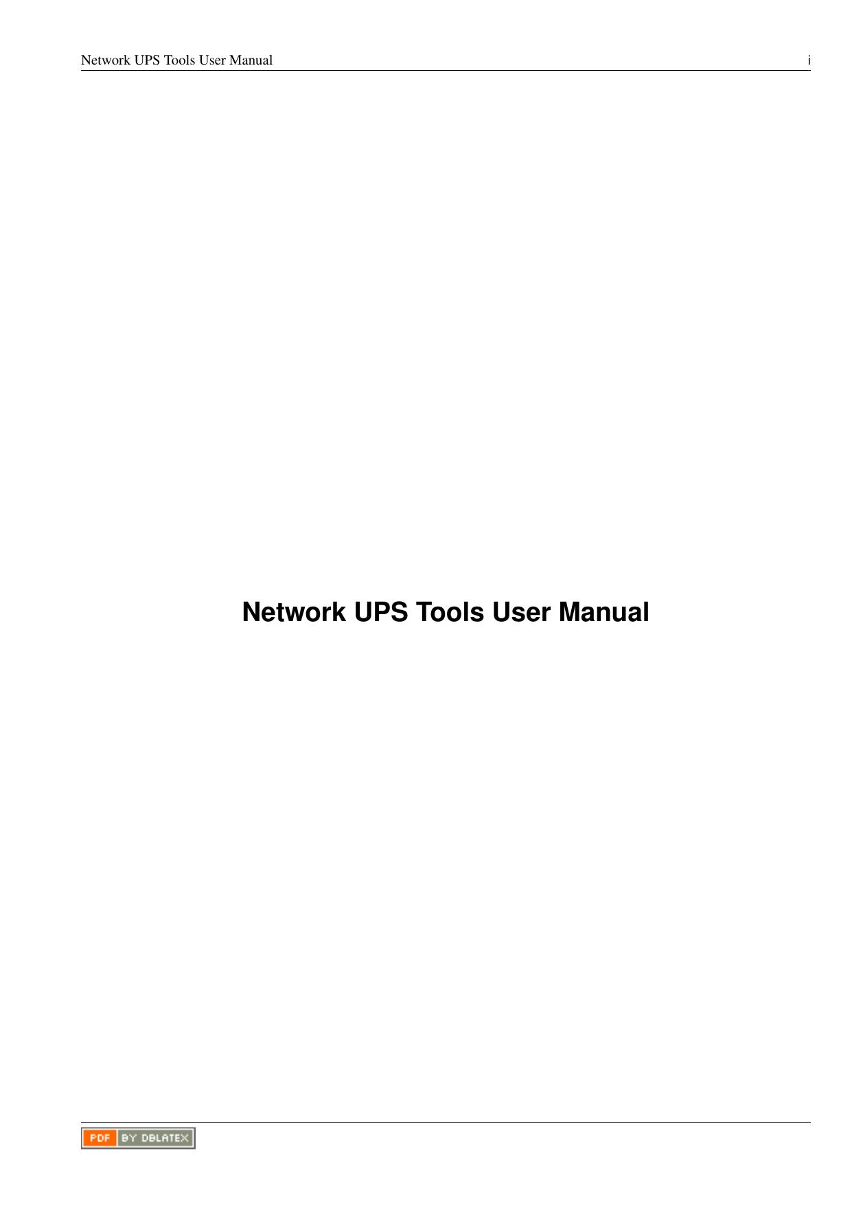 Network UPS Tools User Manual | manualzz com