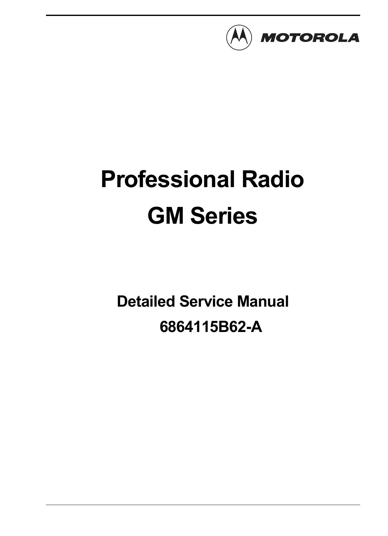Professional Radio GM Series | manualzz com