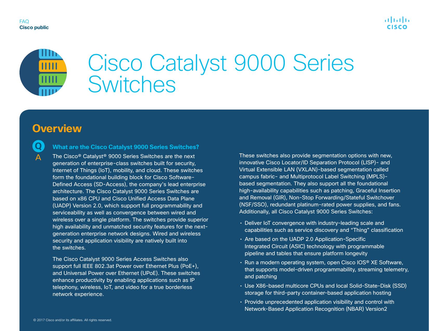 Cisco Catalyst 9000 Series Switches FAQ | manualzz com