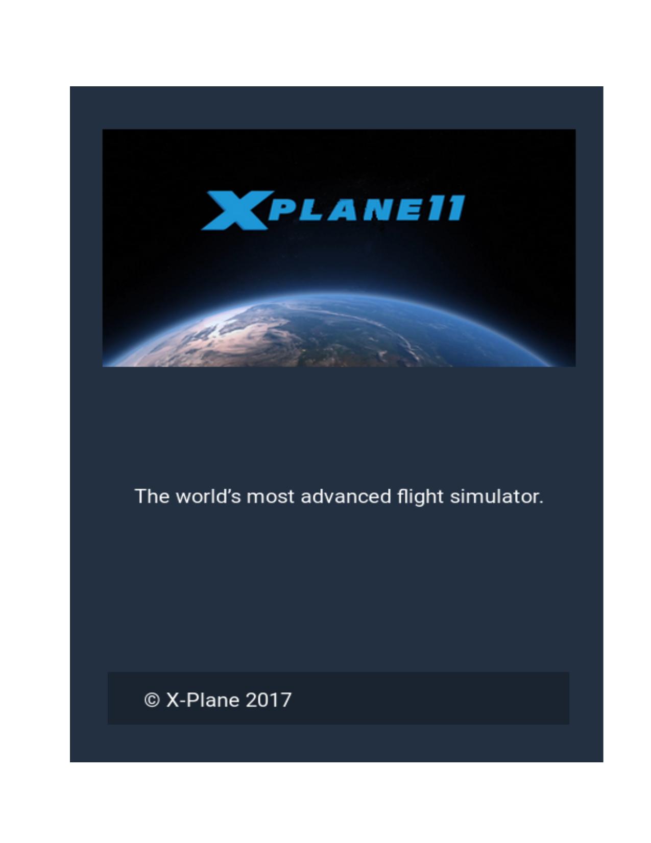 X-Plane 11 Desktop Manual | X-Plane com | The World`s Most
