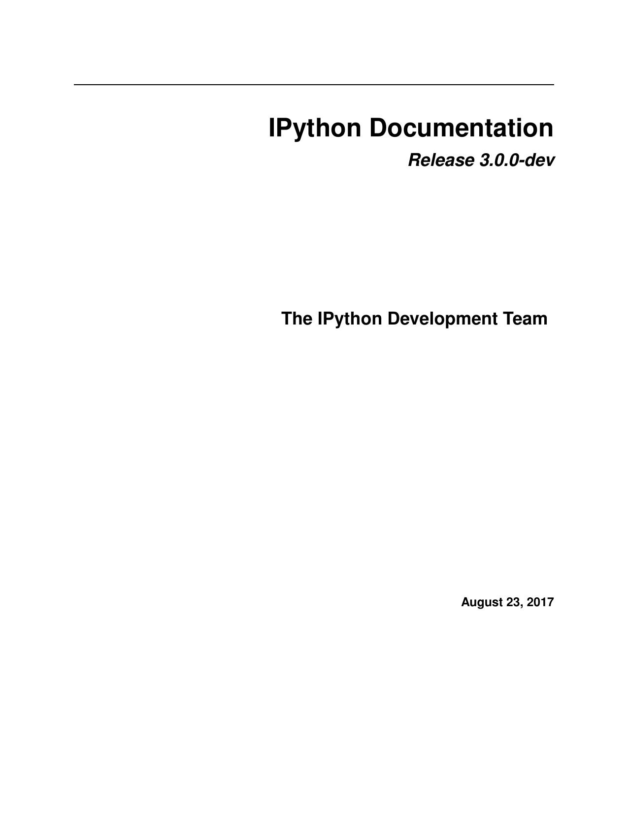 IPython Documentation   manualzz com