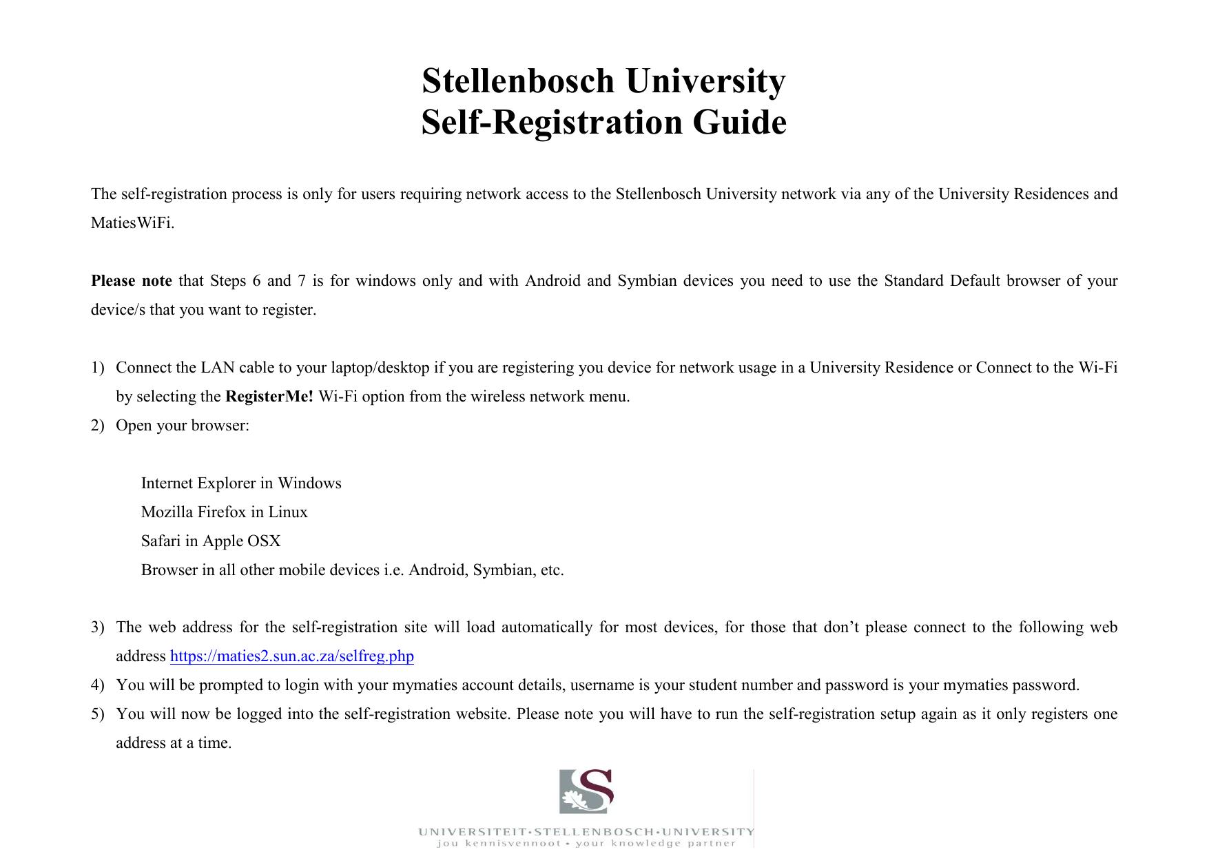 Self-registration Self-Help guide   manualzz com