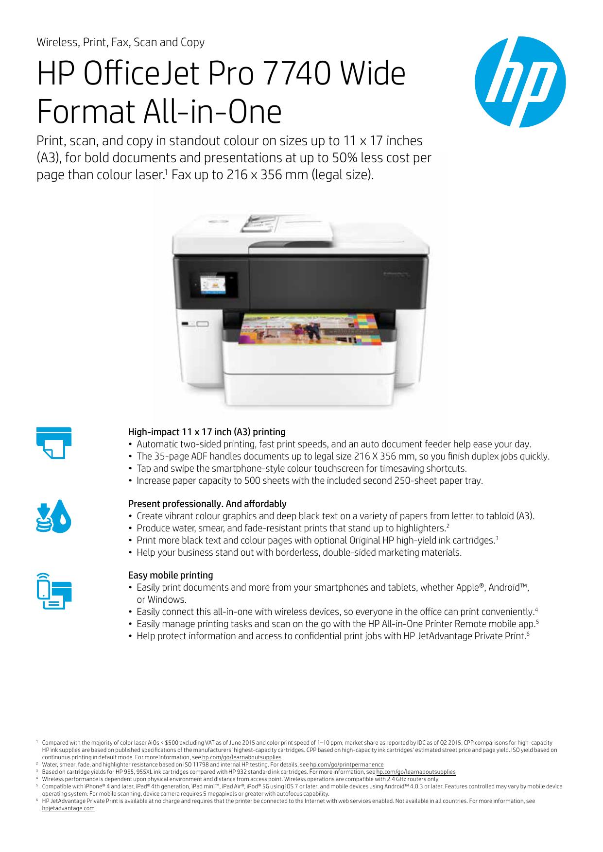 HP OfficeJet Pro 7740 Wide Format All-in-One   manualzz com