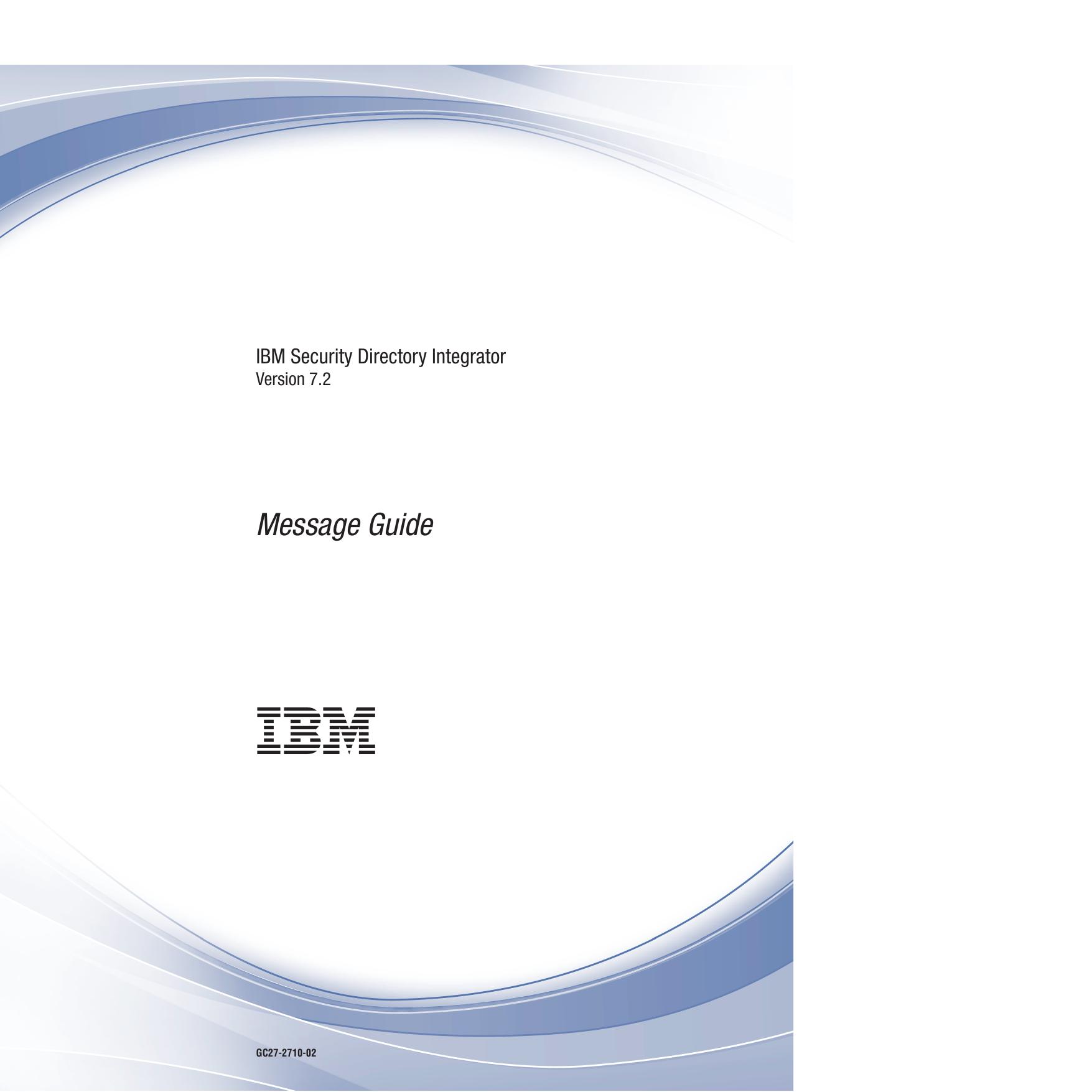 IBM Security Directory Integrator: Message Guide | manualzz com