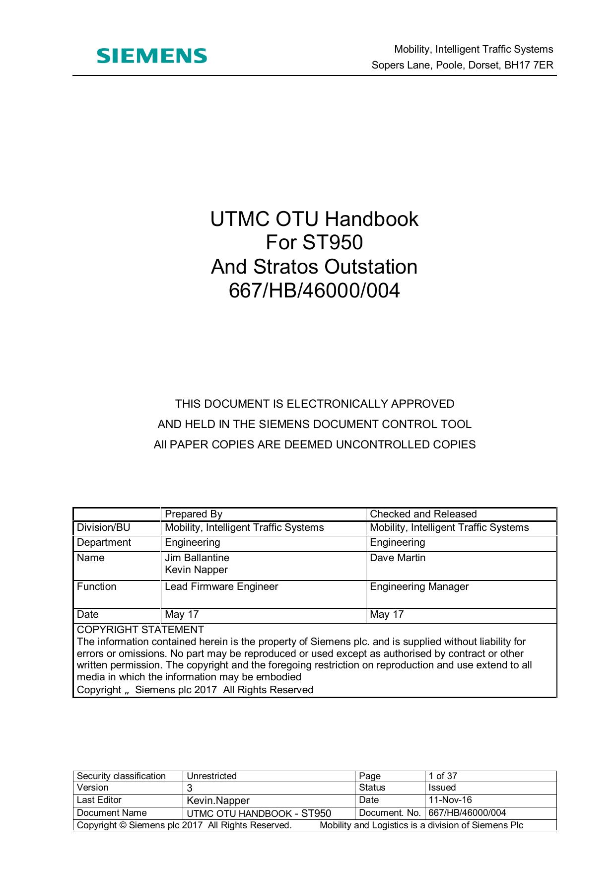 utmc otu handbook - st950 | manualzz com
