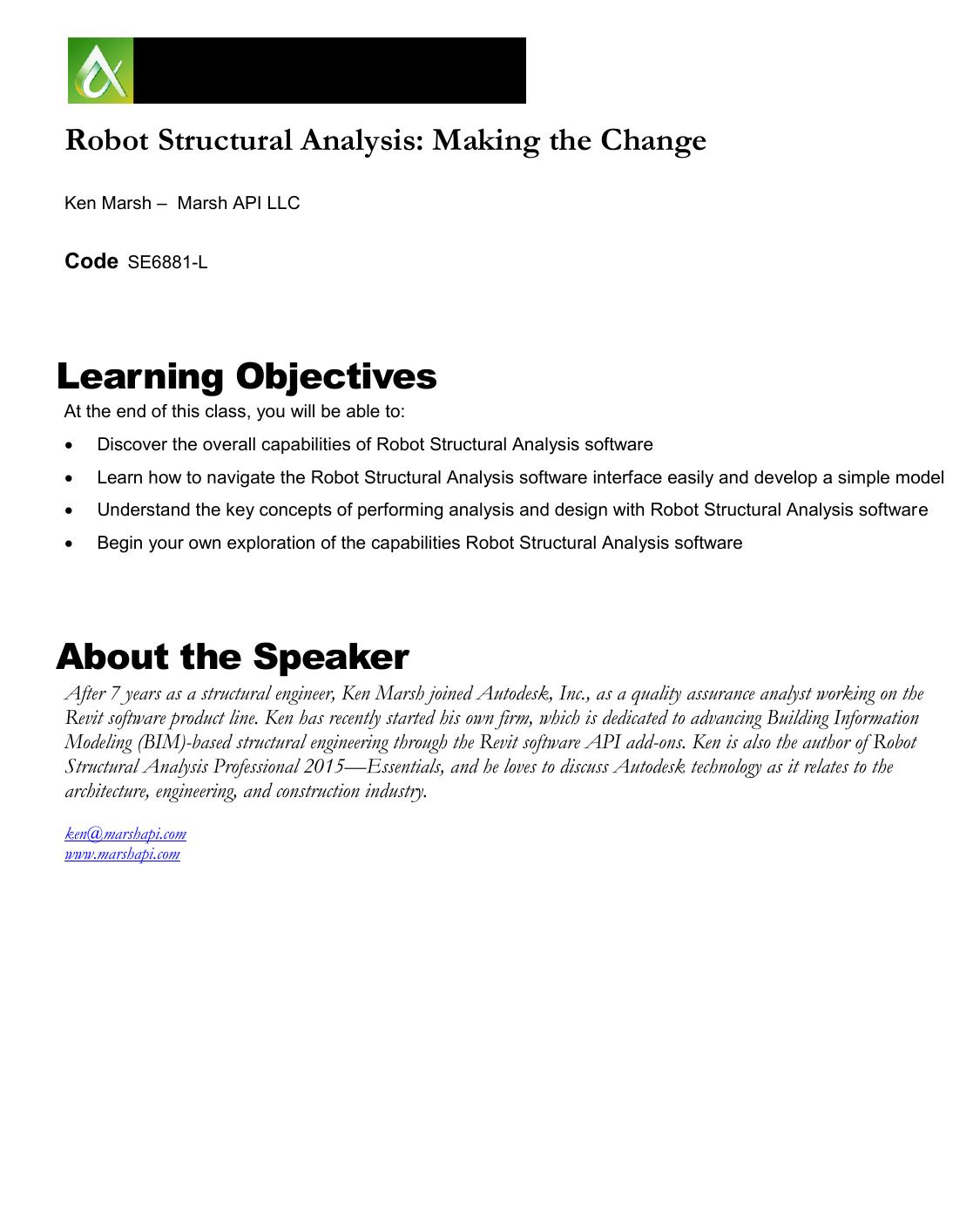 Autodesk Robot Structural Analysis | manualzz com