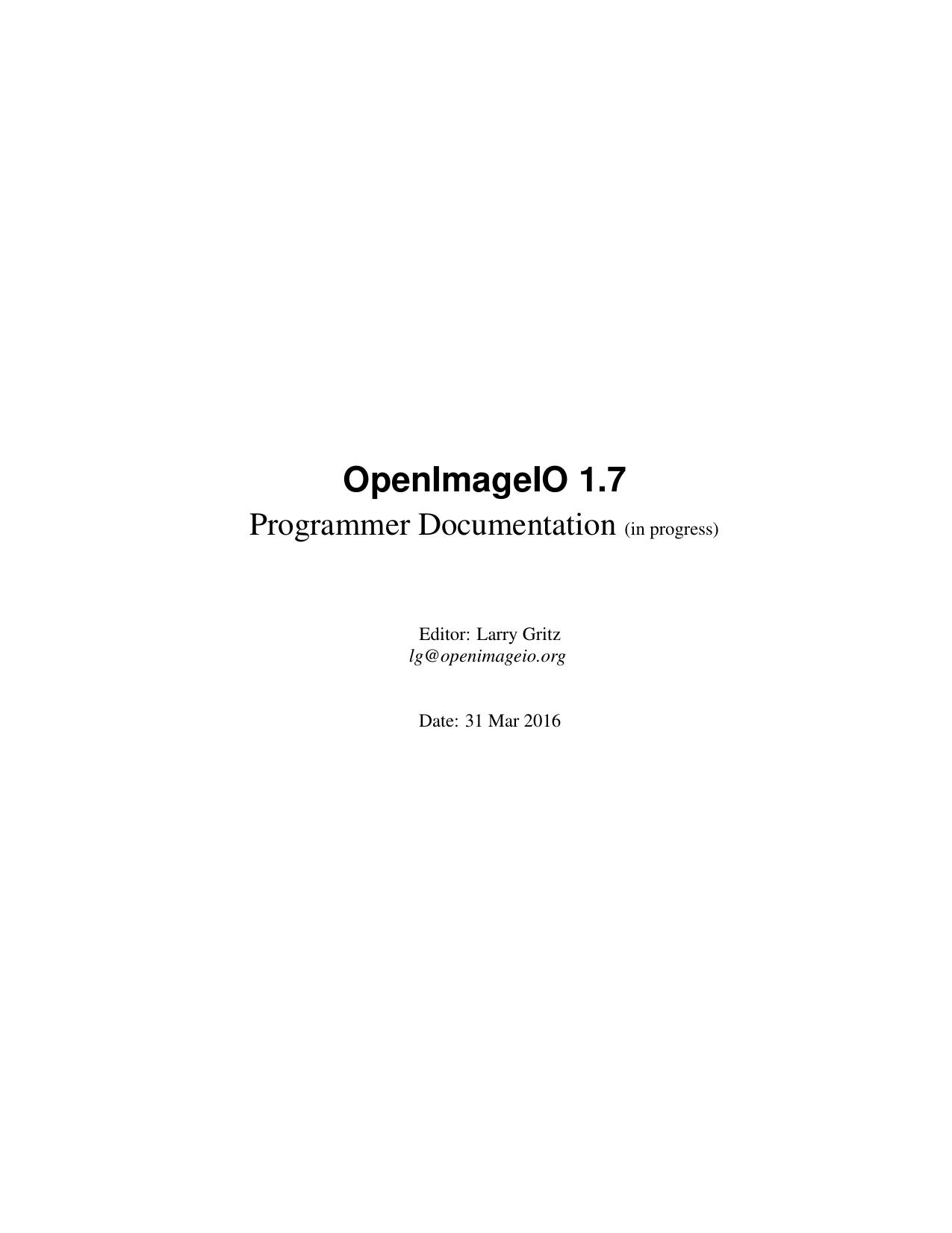 OpenImageIO API | manualzz com