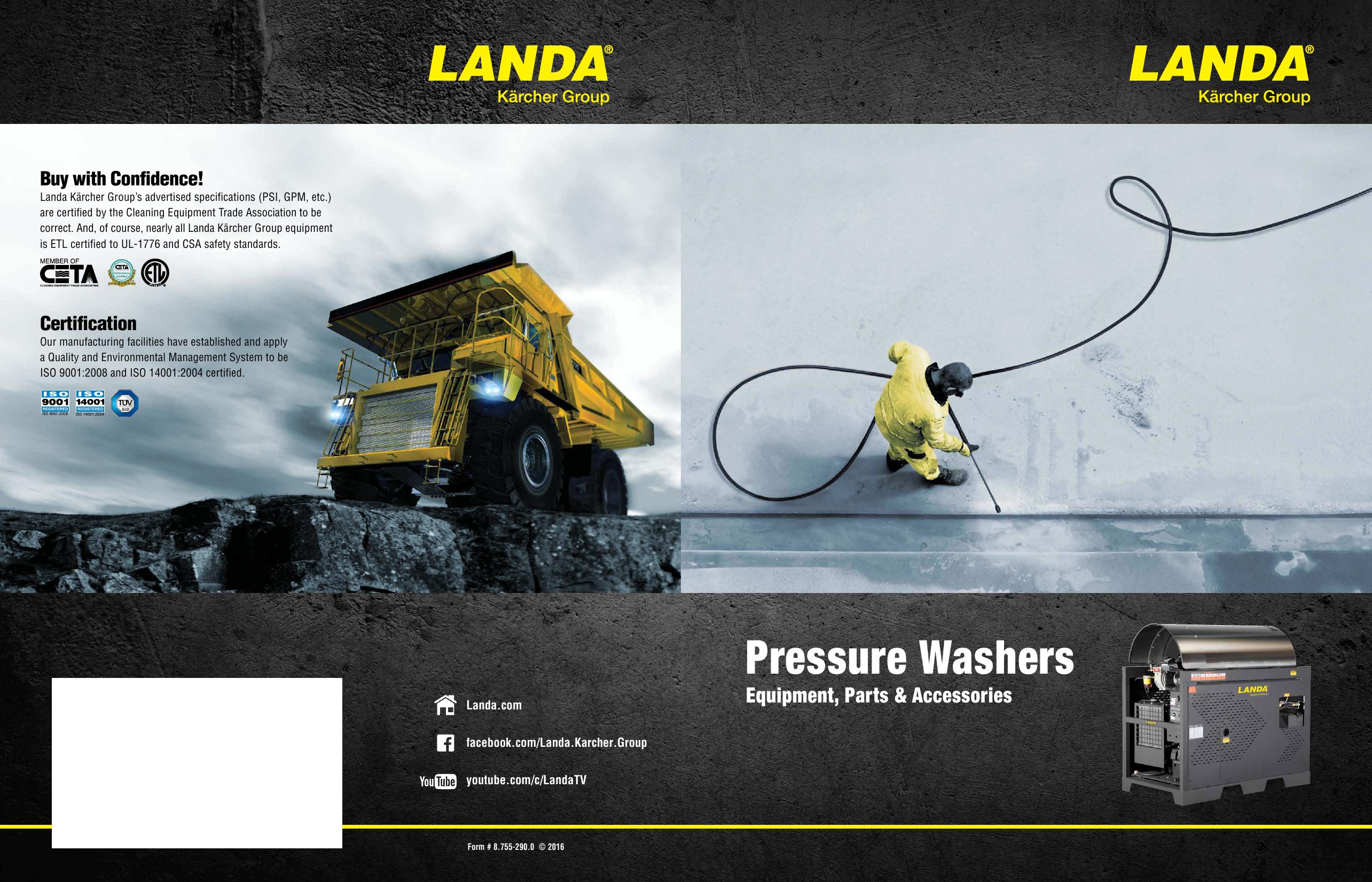 Landa Karcher Group Catalog 2016 | manualzz.com on