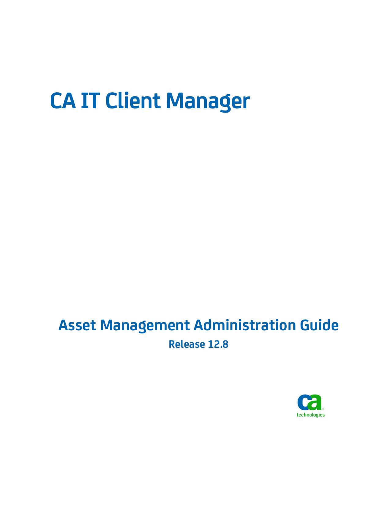 CA IT Client Manager Asset Management | manualzz com