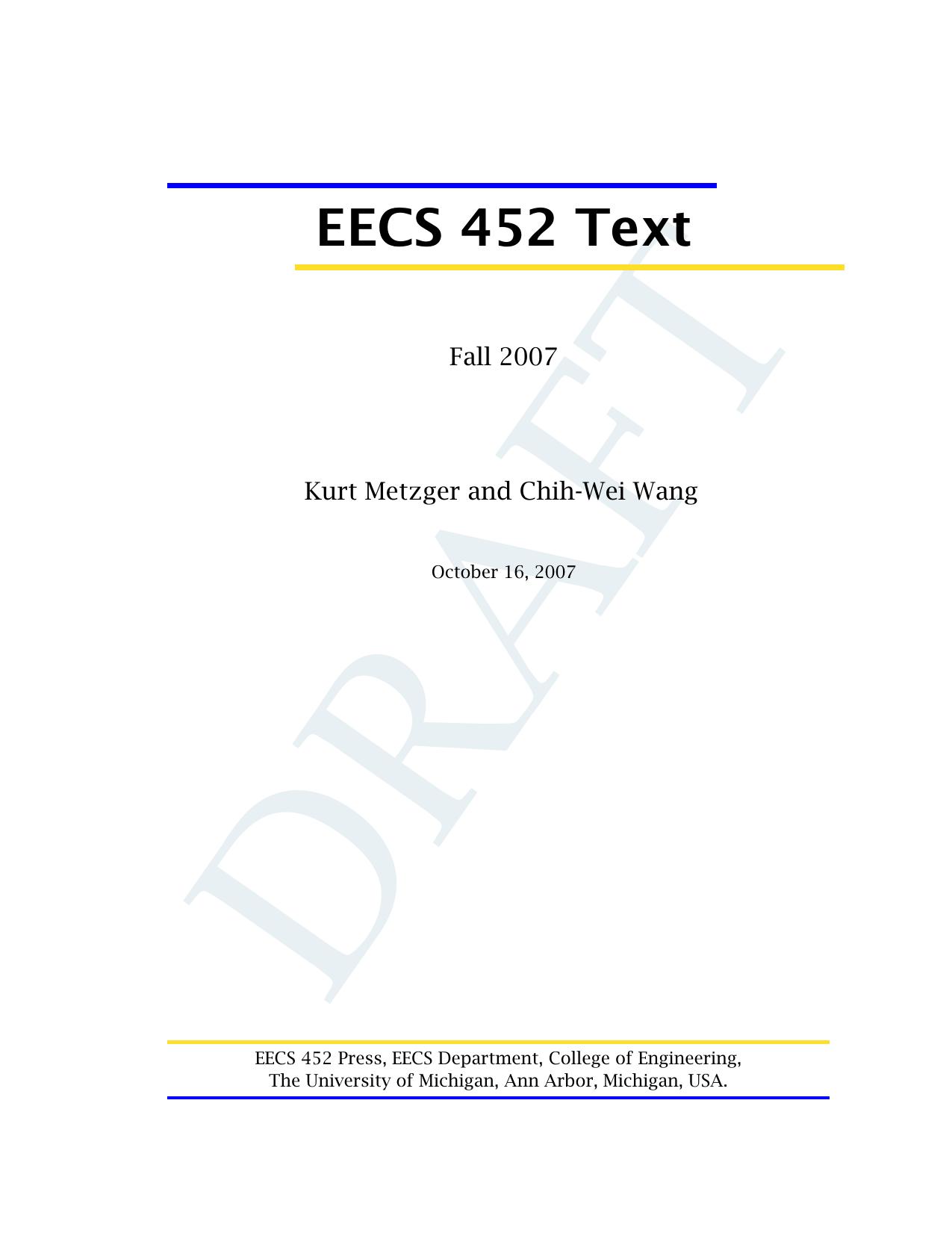 EECS 452 Text - EECS @ Michigan   manualzz com