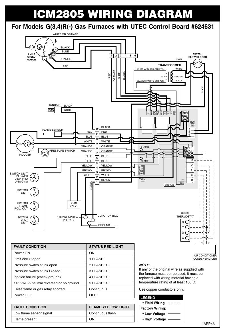 icm2805 wiring diagram | manualzz.com on