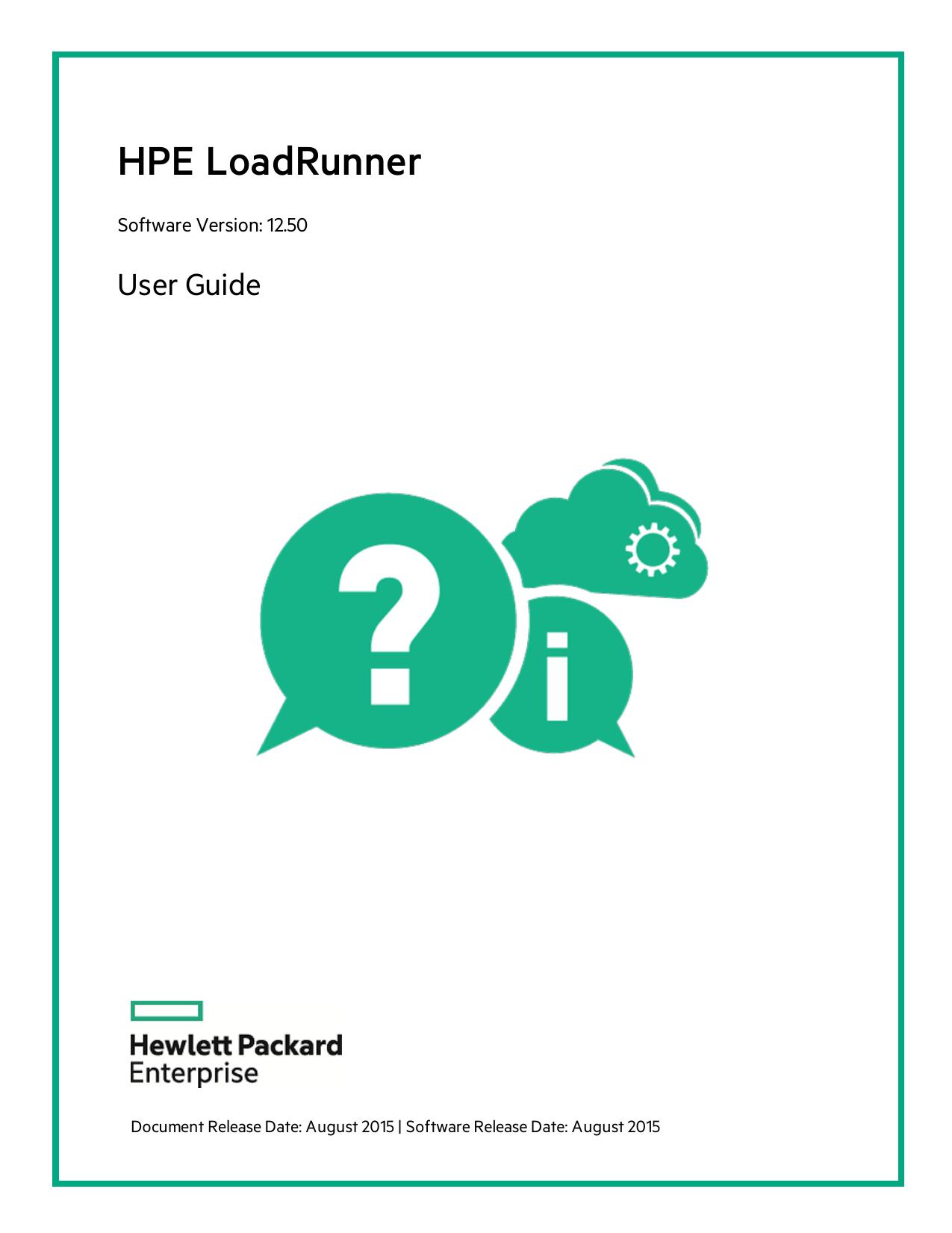 HPE LoadRunner User Guide - HPE LoadRunner Help Center