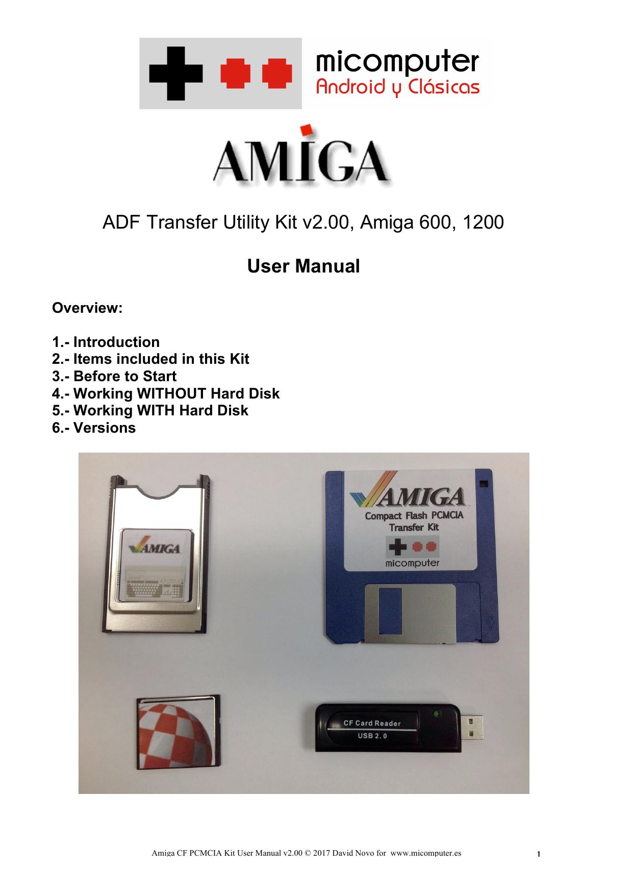 ADF Transfer Utility Kit v2 00, Amiga 600, 1200 User