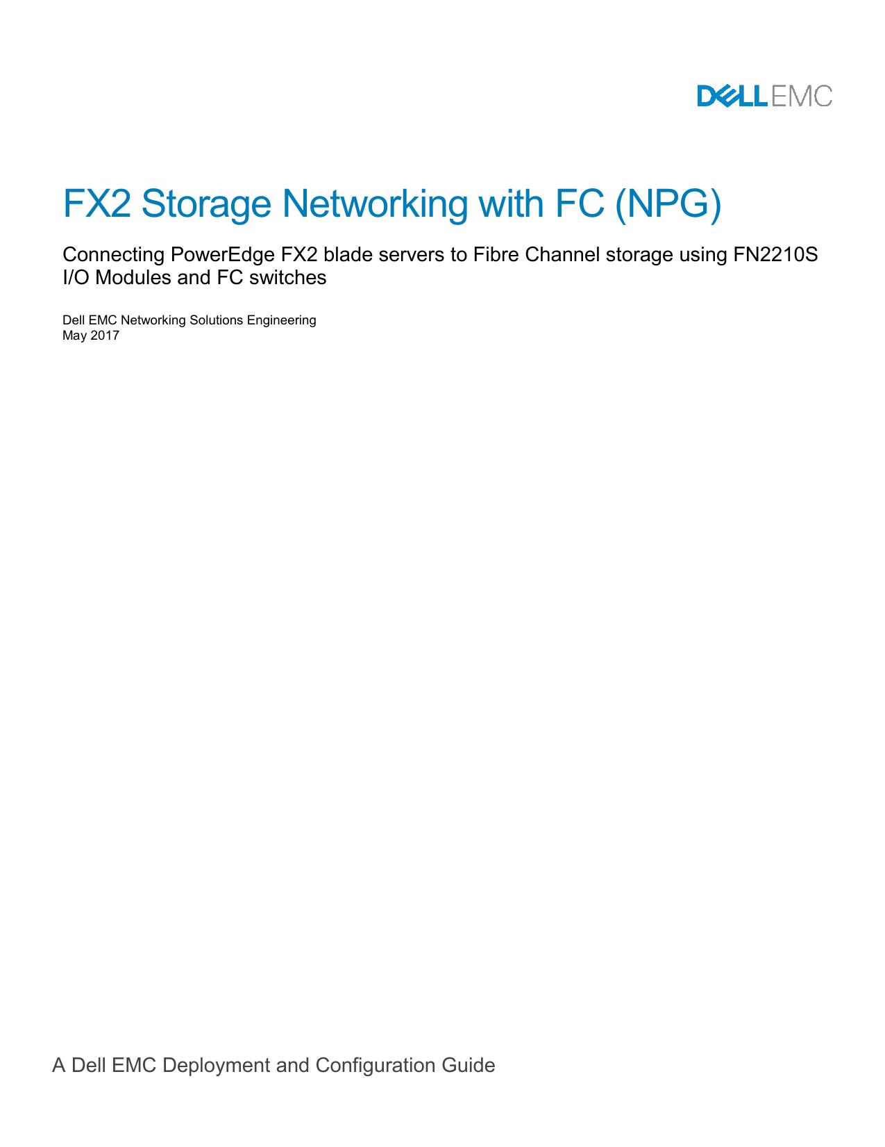 FX2 Storage Networking with FC (NPG) | manualzz com