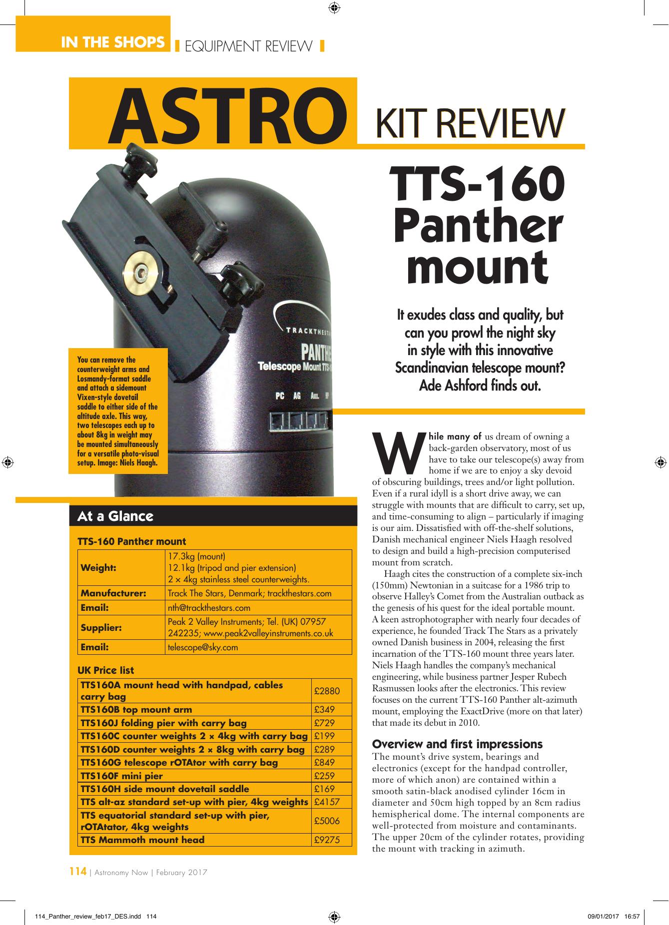 TTS-160 Panther mount   manualzz com