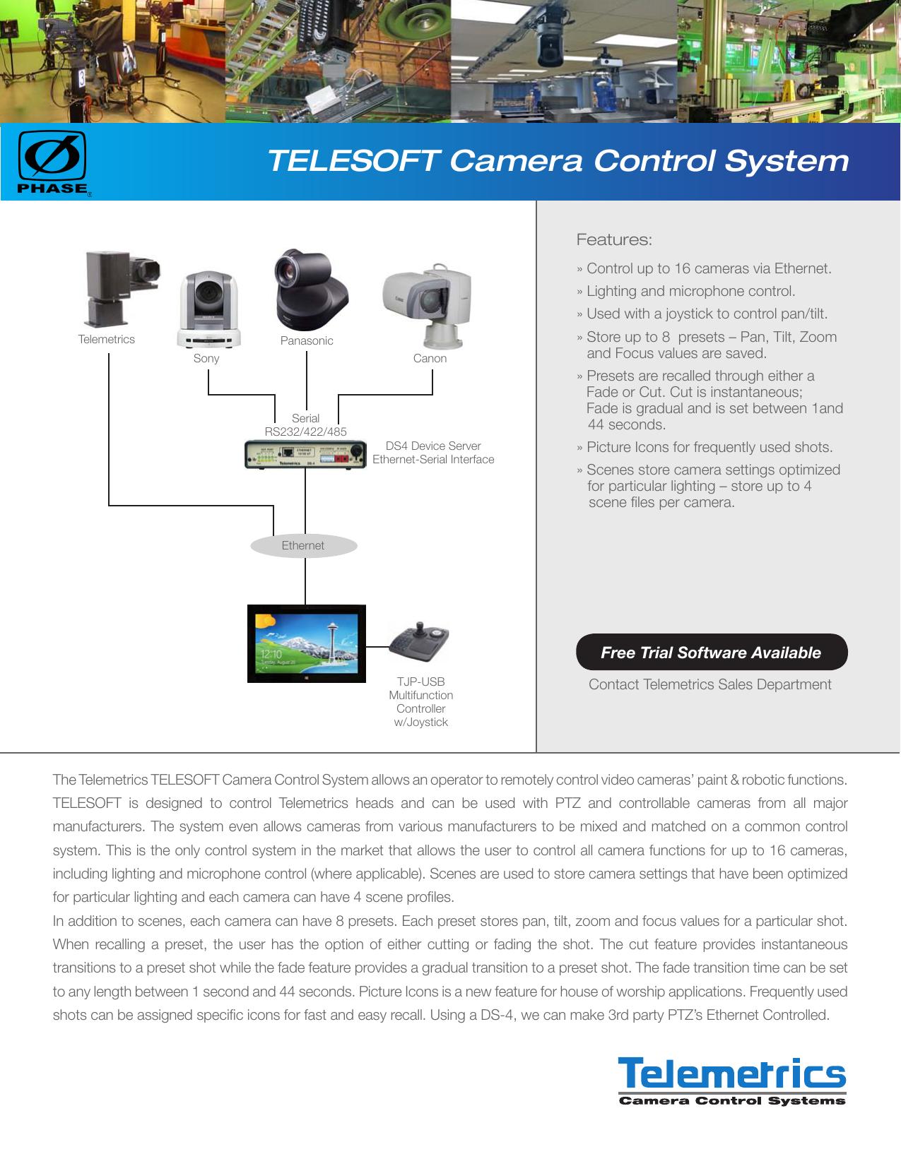 TELESOFT Camera Control System | manualzz com