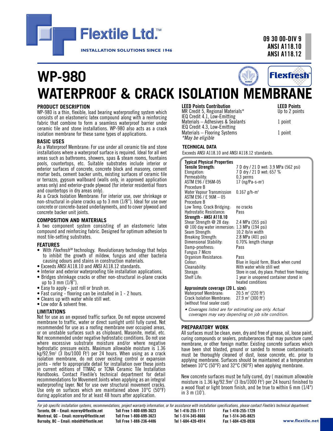 crack isolation membrane for concrete