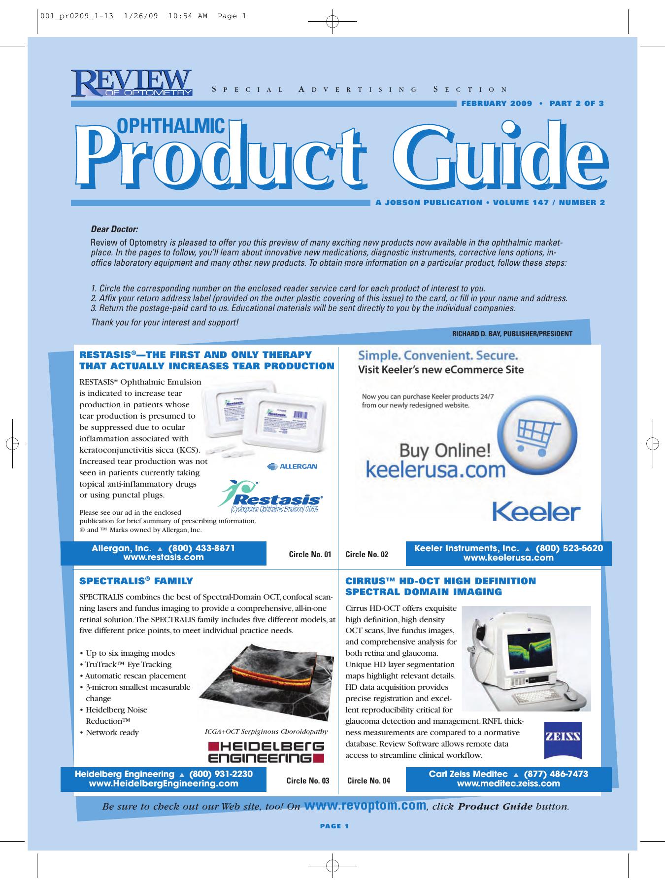 PDF Edition - Review of Optometry   manualzz com