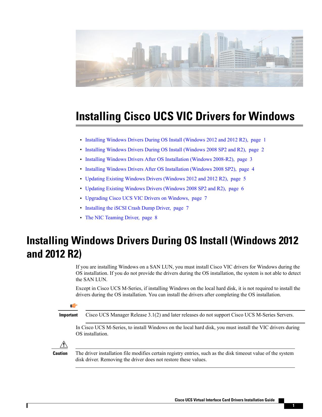 Installing Cisco UCS VIC Drivers for Windows | manualzz com