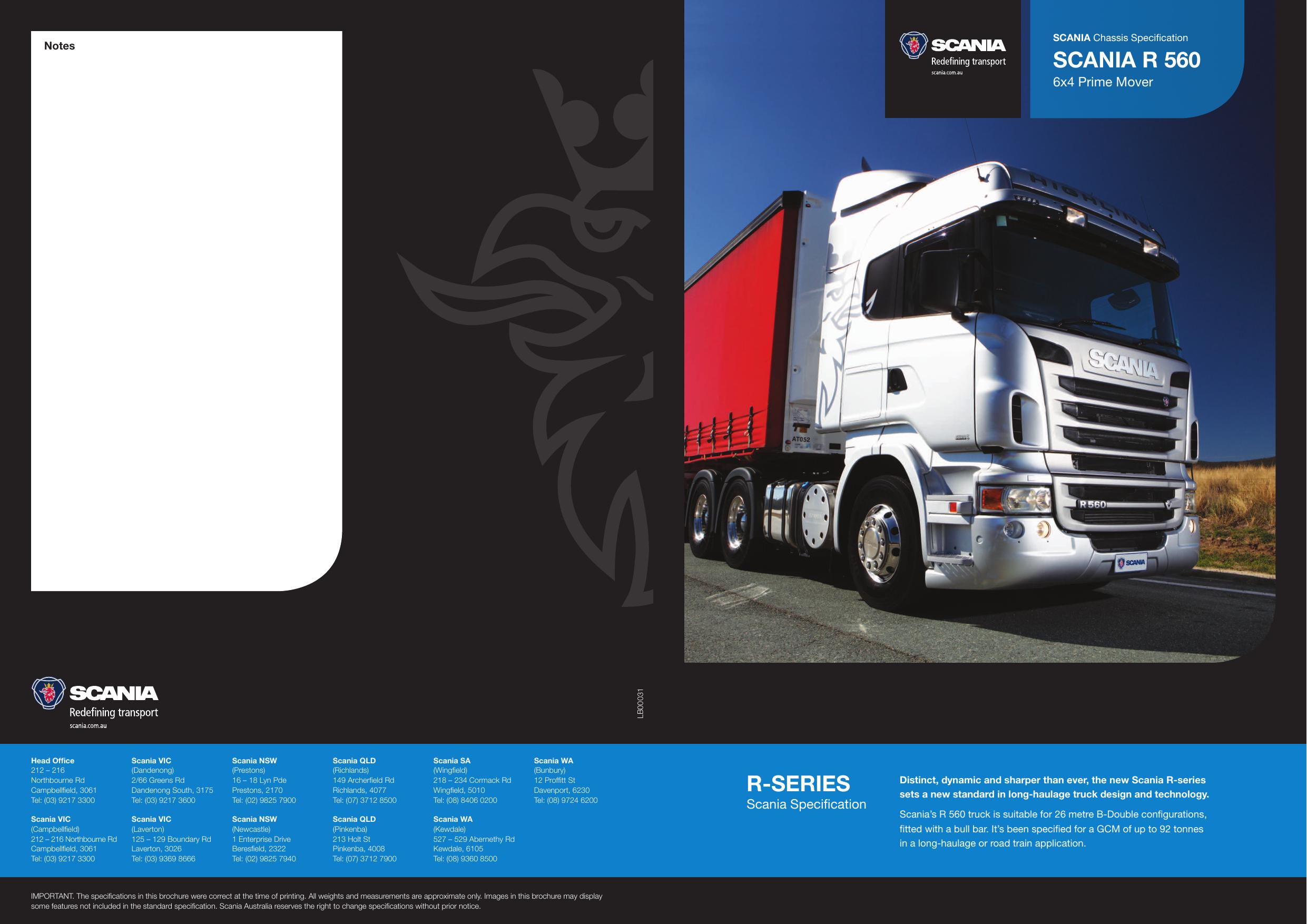 R-SeRieS Scania R 560 | manualzz com