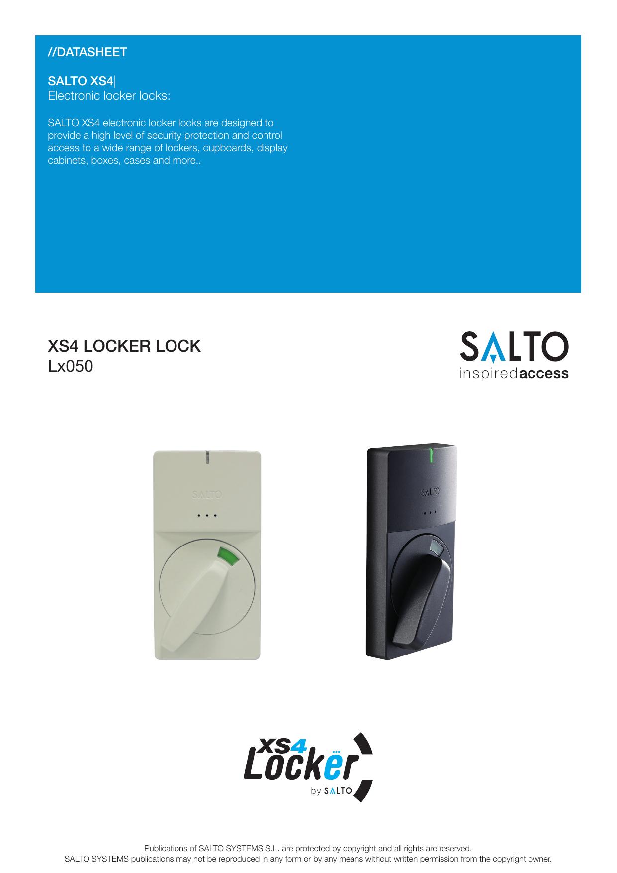 XS4 LOCKER LOCK Lx050 | manualzz com