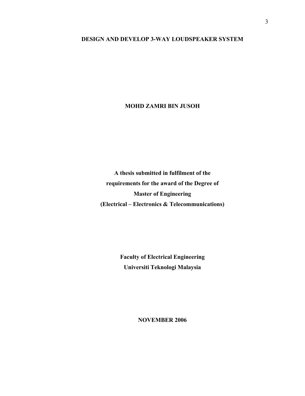 3 DESIGN AND DEVELOP 3-WAY LOUDSPEAKER SYSTEM | manualzz com