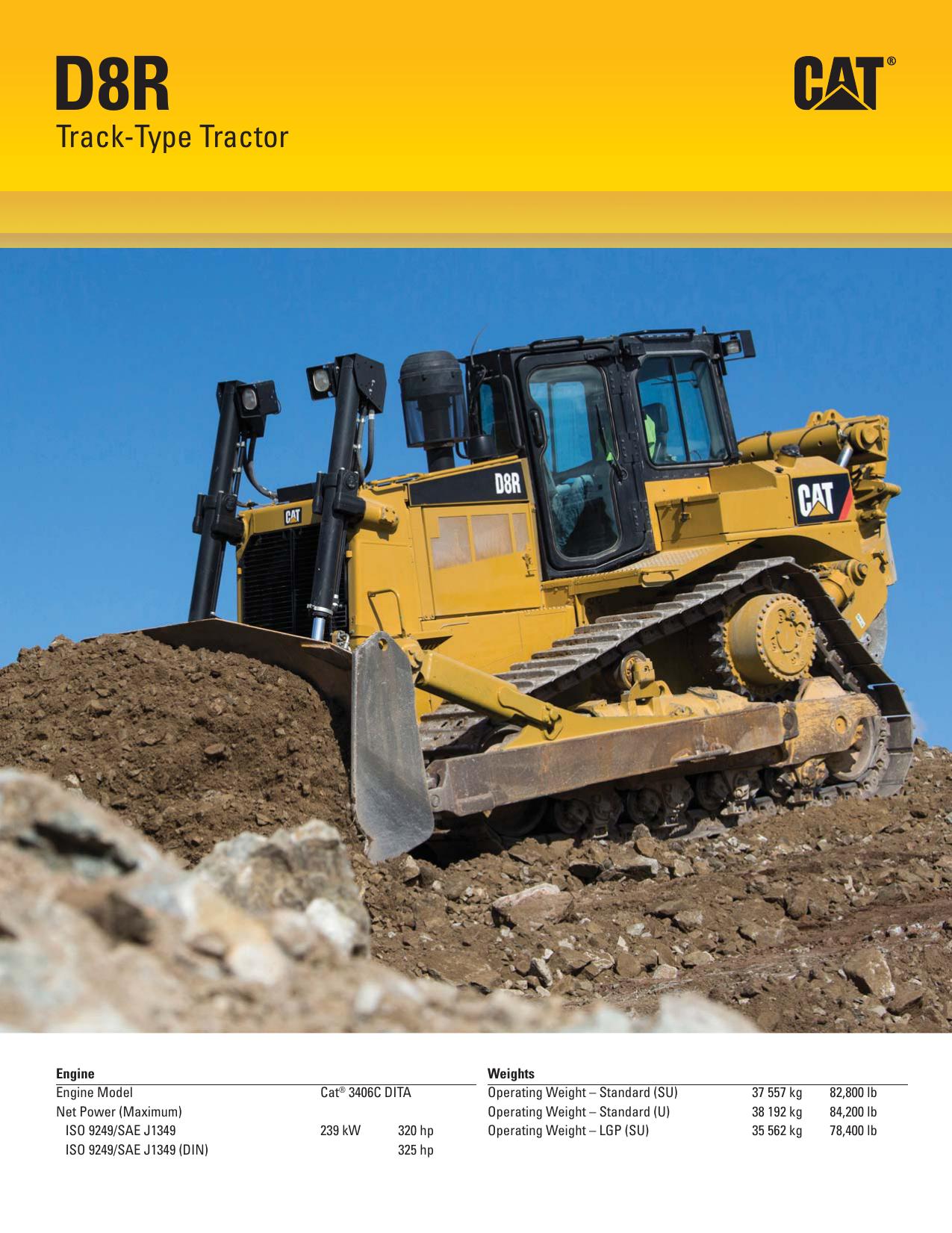 Specalog for D8R Track-Type Tractor AEHQ7378-00 | manualzz com