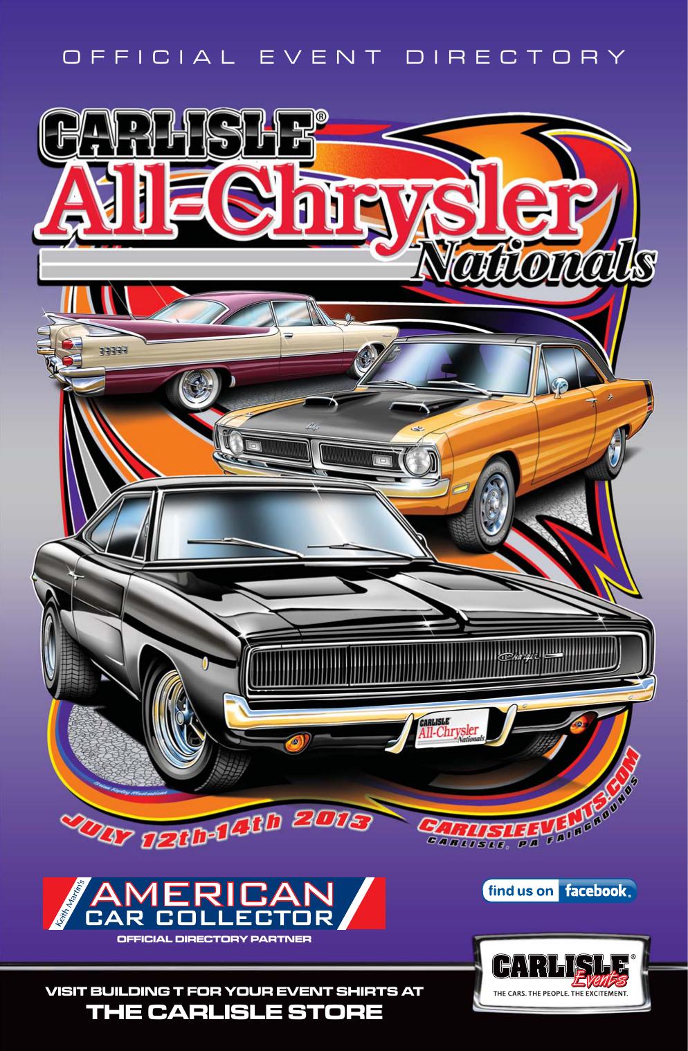 Carlisle Chrysler Nationals 2013 Event Directory | manualzz com