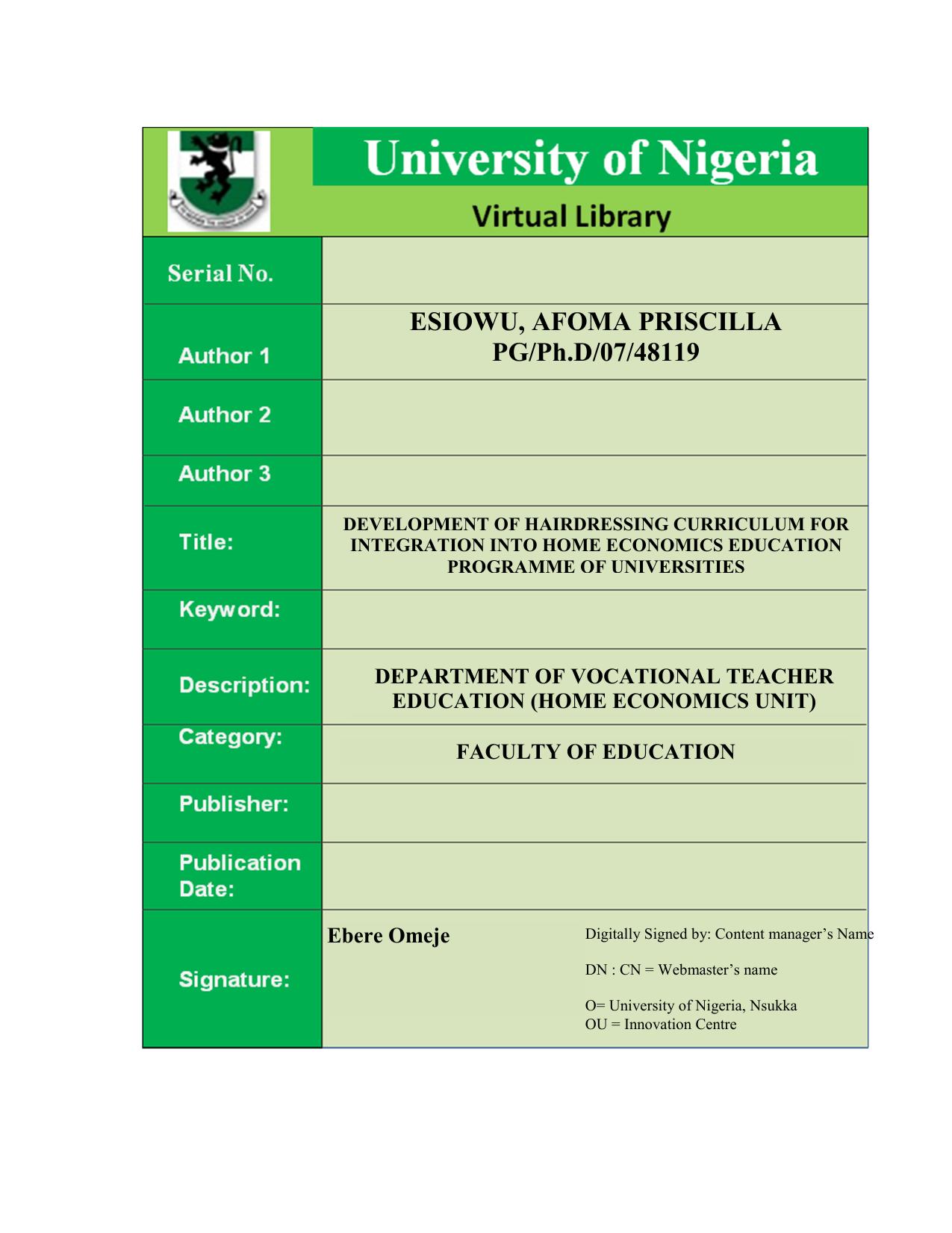 pdf - University Of Nigeria Nsukka | manualzz com