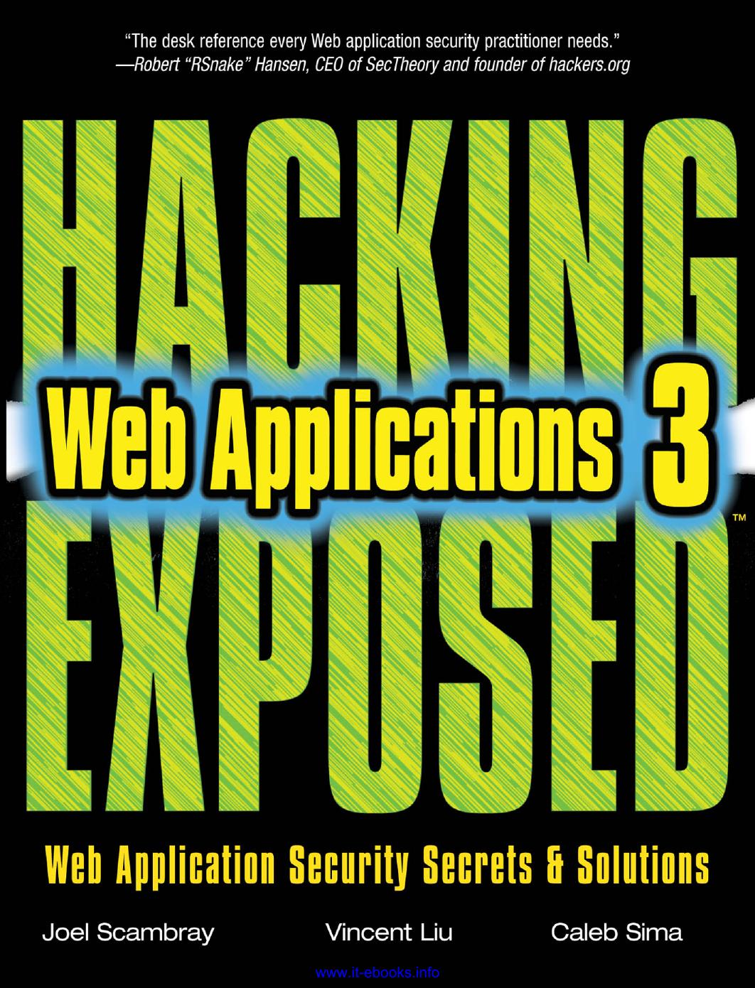 Hacking Exposed™ Web Applications | manualzz com