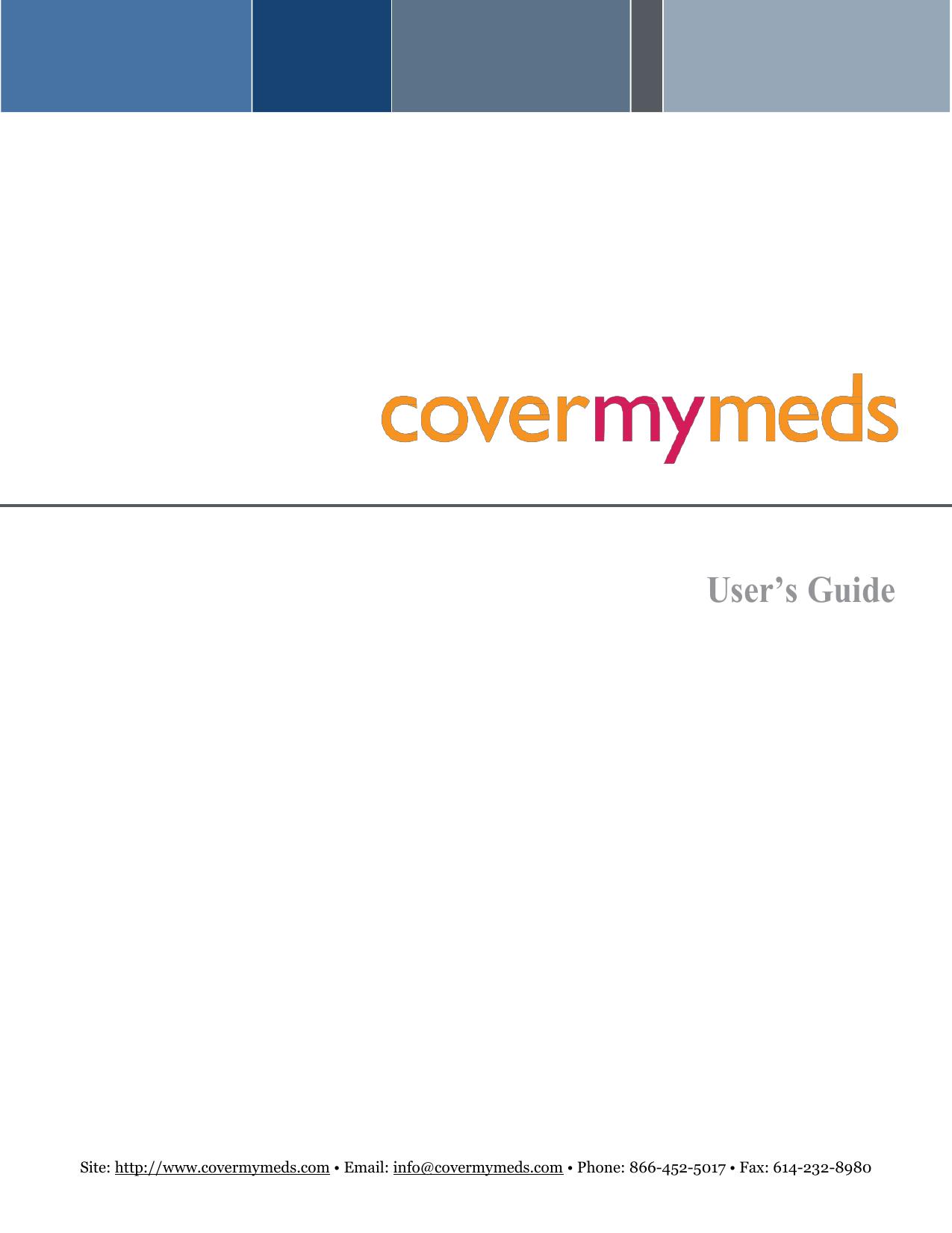 User S Guide Covermymeds Manualzz Com