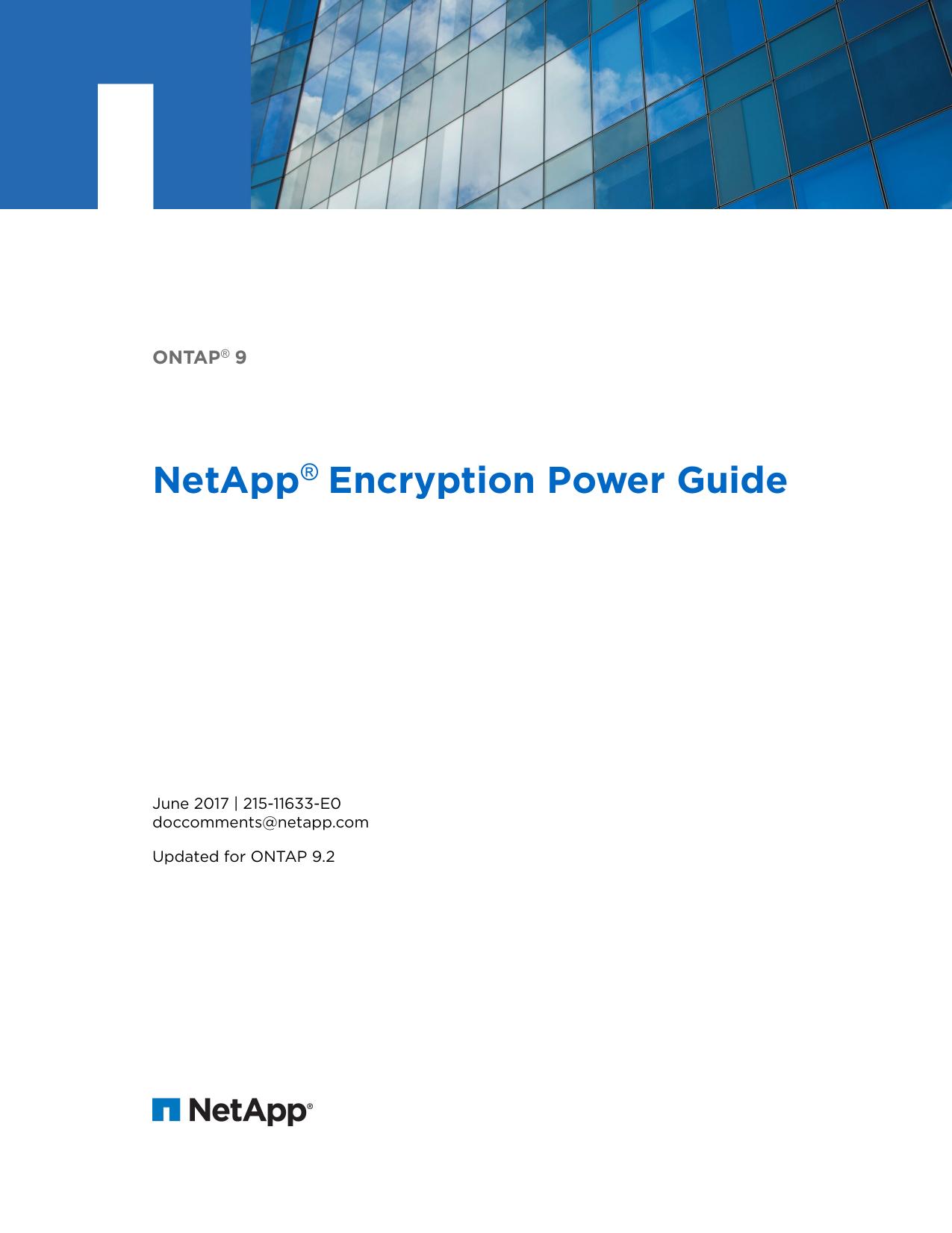ONTAP 9 NetApp Encryption Power Guide | manualzz com