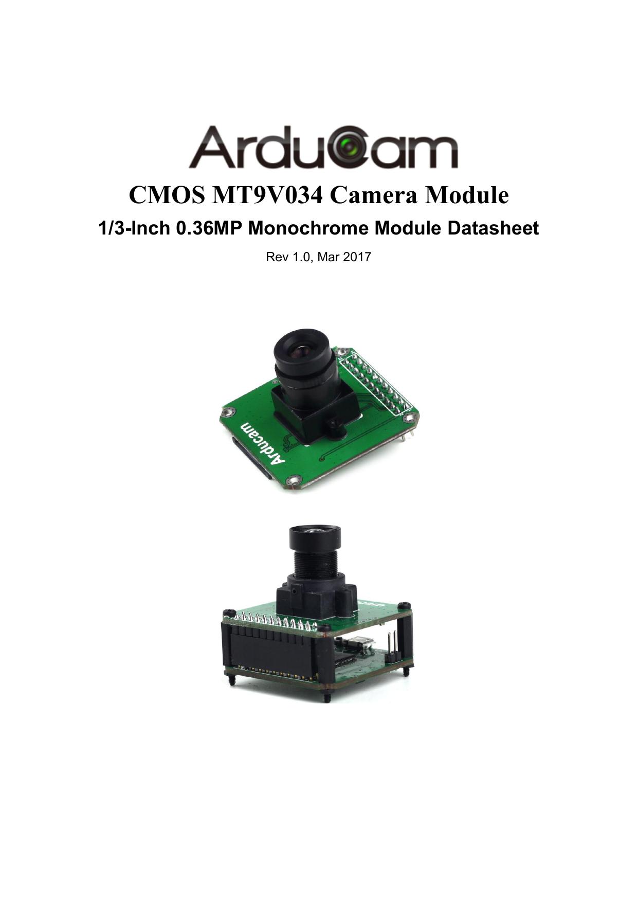 CMOS MT9V034 Camera Module | manualzz com