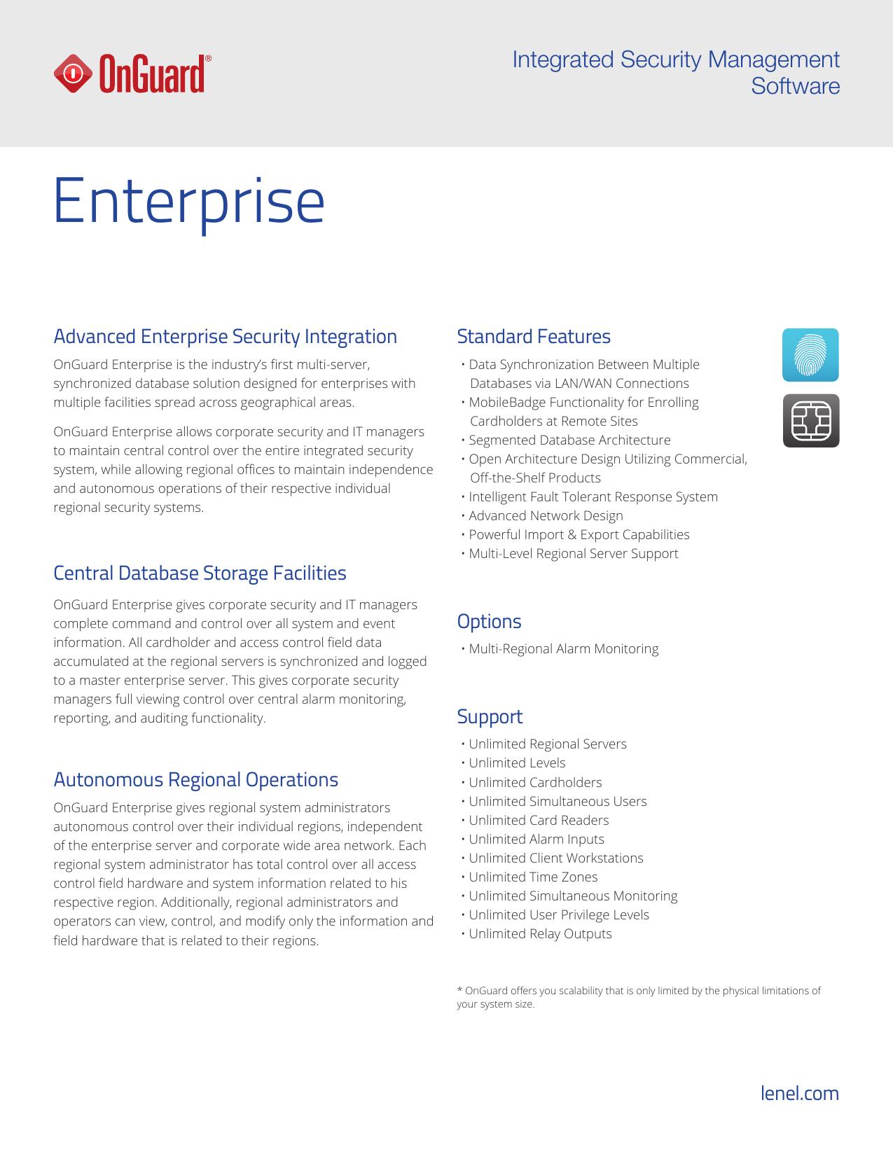 Enterprise Lenelcom Database Access Control And Security
