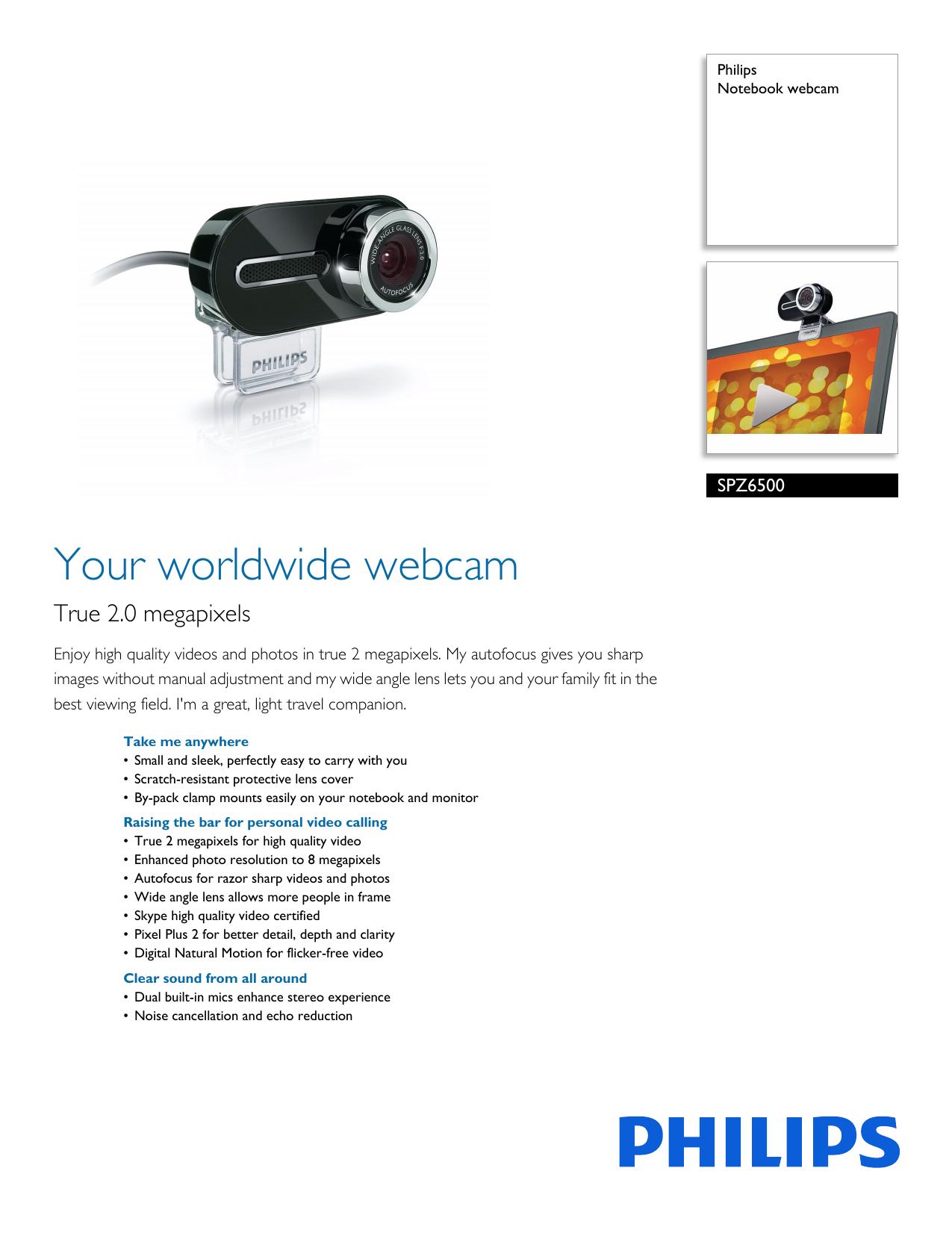 PHILIPS SPC630NC27 WEBCAM WINDOWS VISTA DRIVER