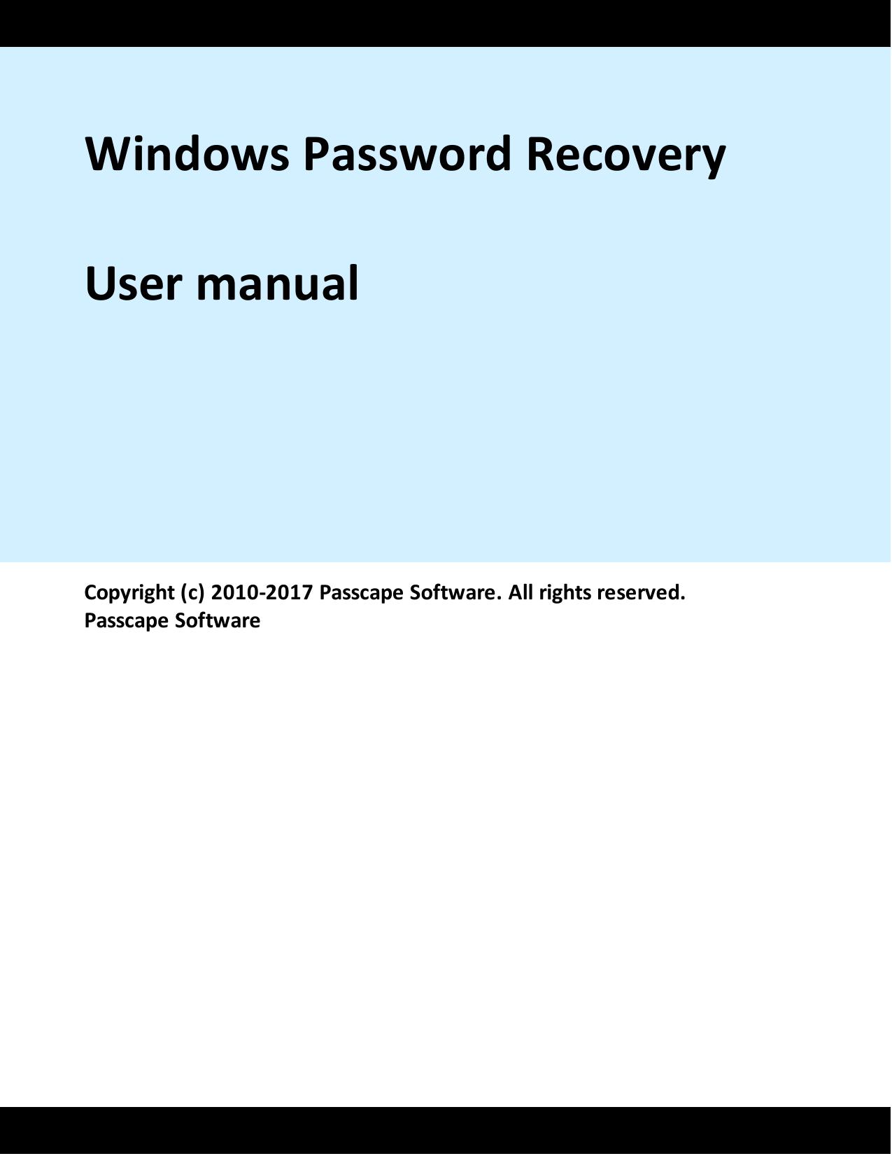 Windows Password Recovery   manualzz com