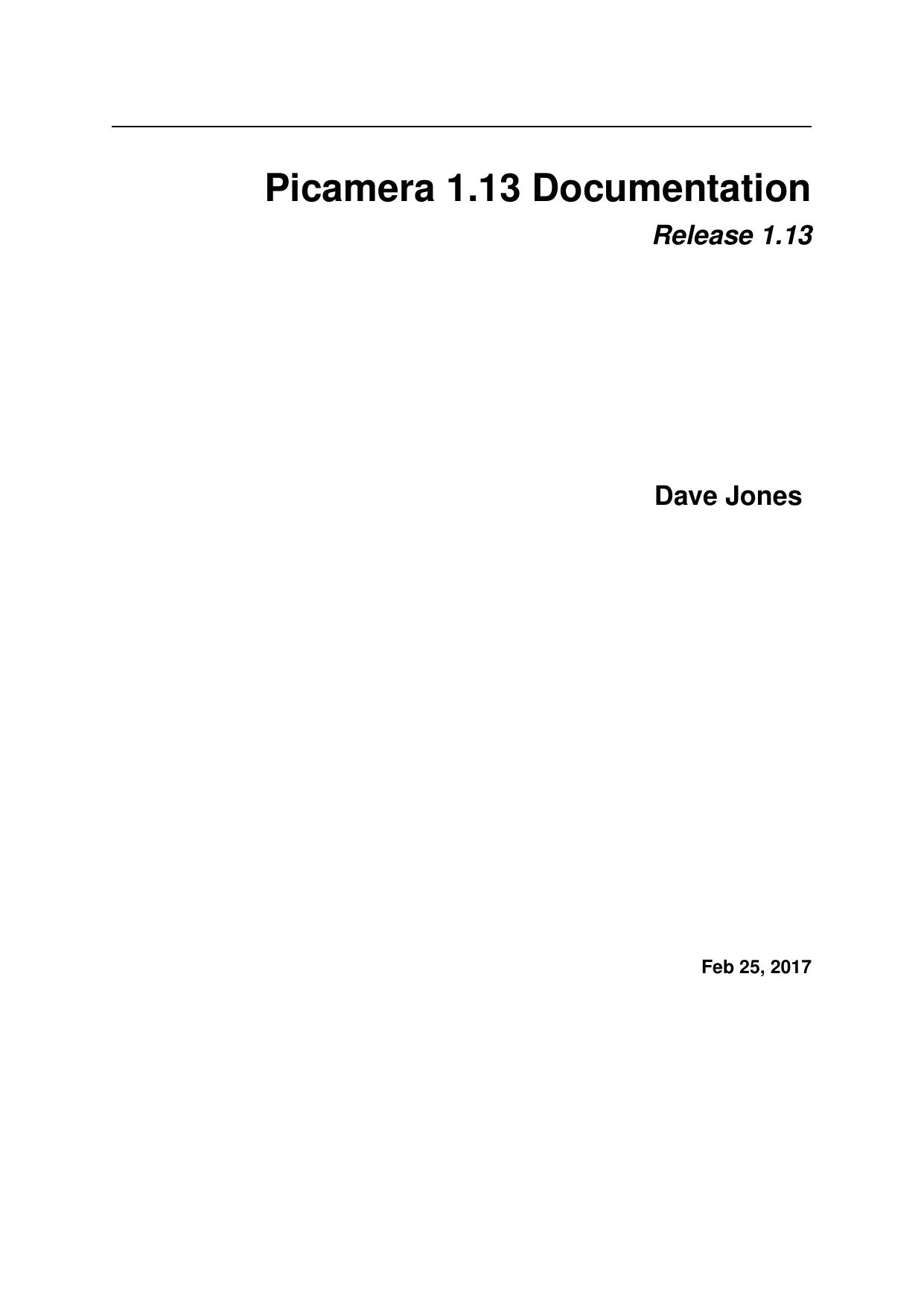 Picamera 1 13 Documentation | manualzz com