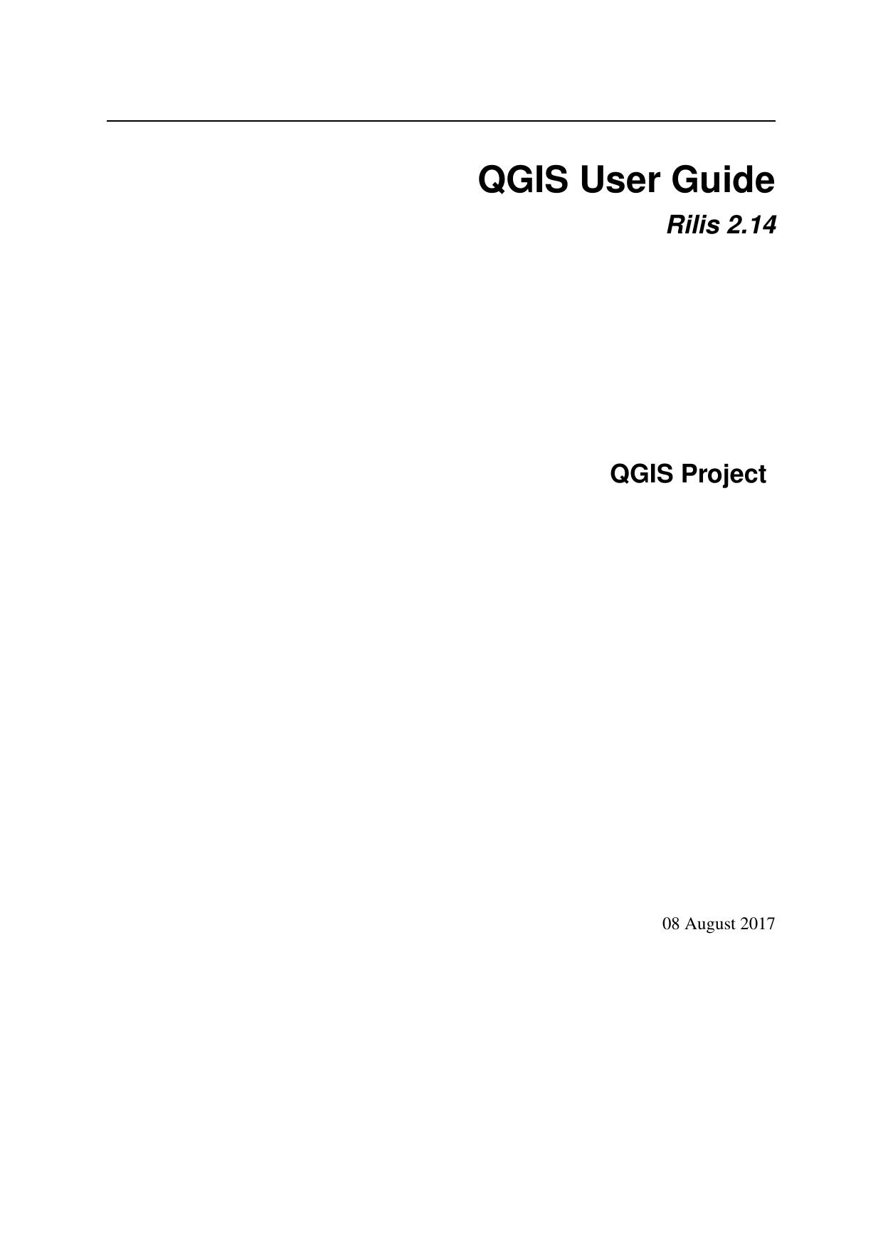 Qgis User Guide Qgis Documentation Manualzz Com