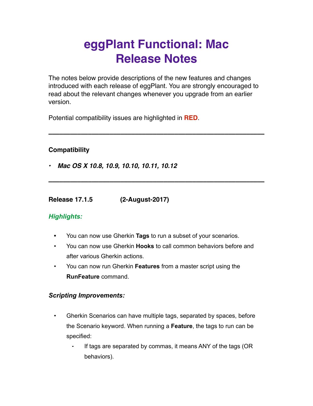 eggPlant Release Notes   manualzz com