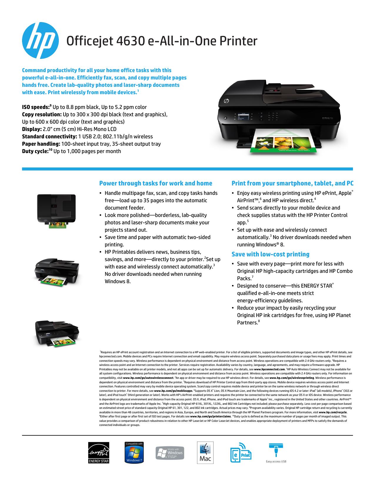Officejet 4630 e-All-in-One Printer | manualzz com