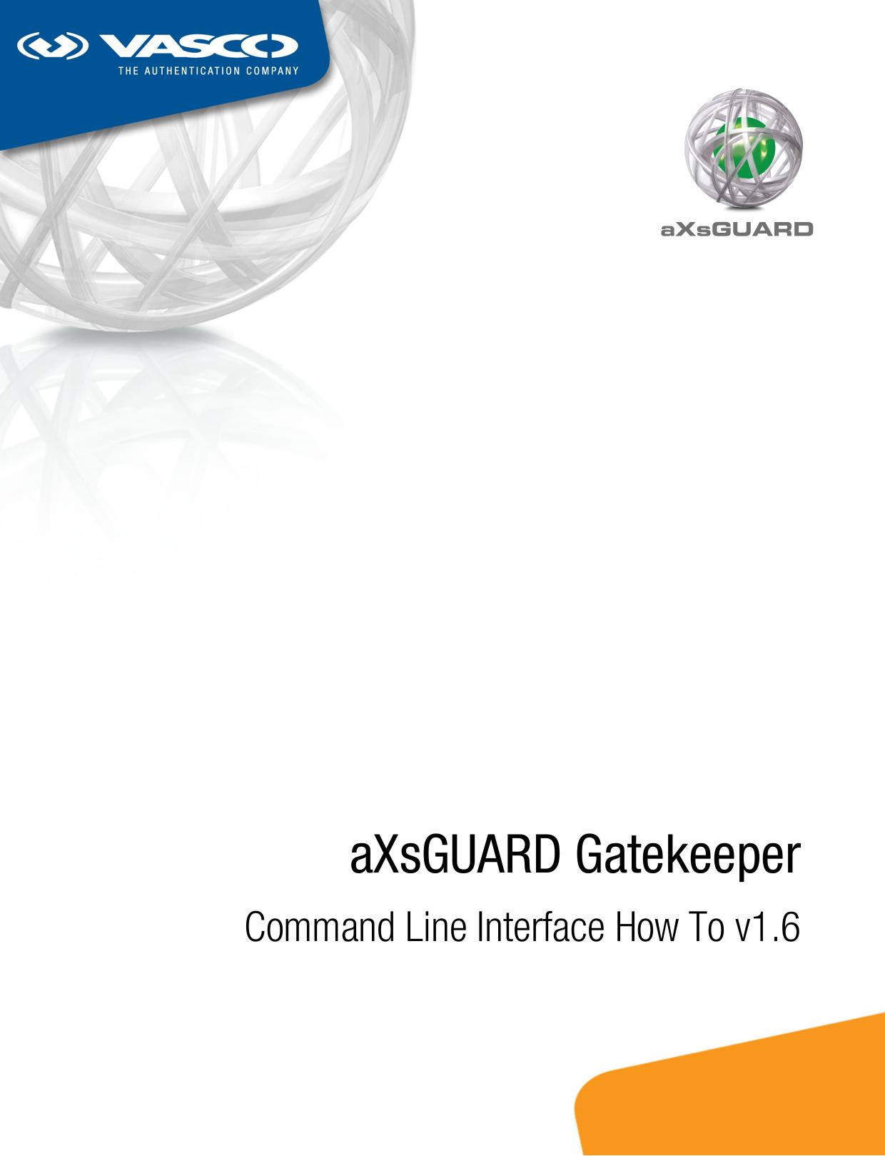 aXsGUARD Gatekeeper - VASCO Data Security | manualzz com