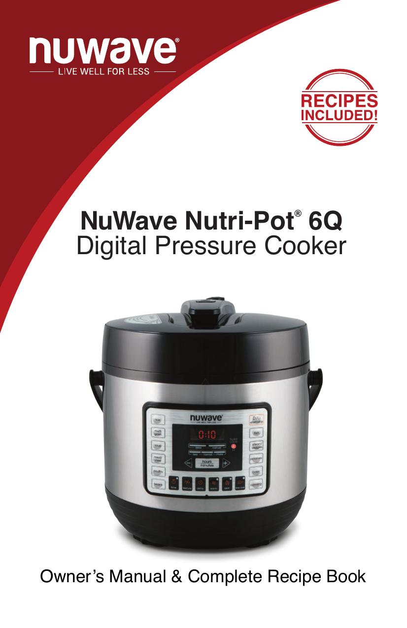 Silicone Gasket for NuWave Nutri-Pot 6Q Digital Pressure Cooker ...