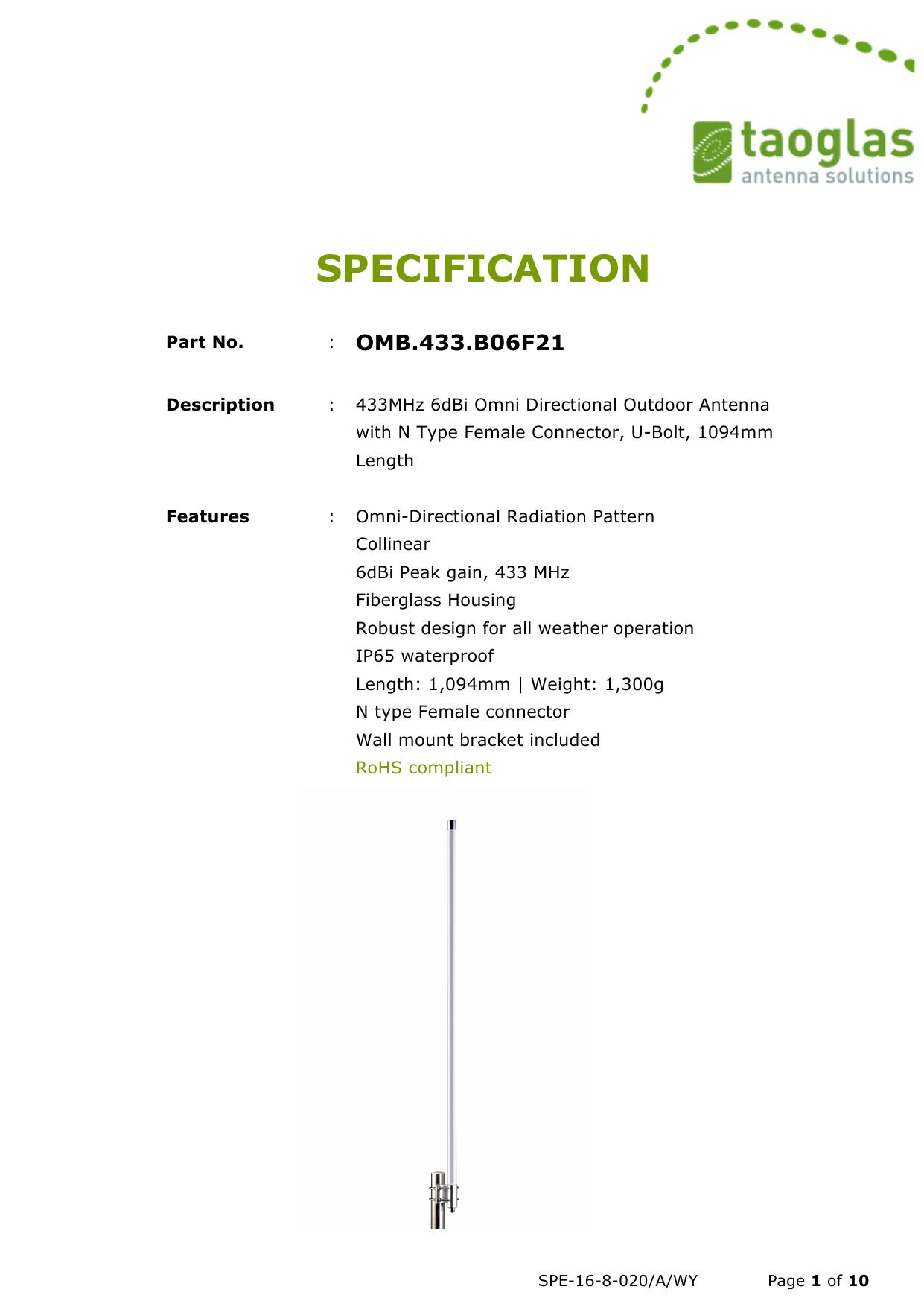 specification | manualzz com