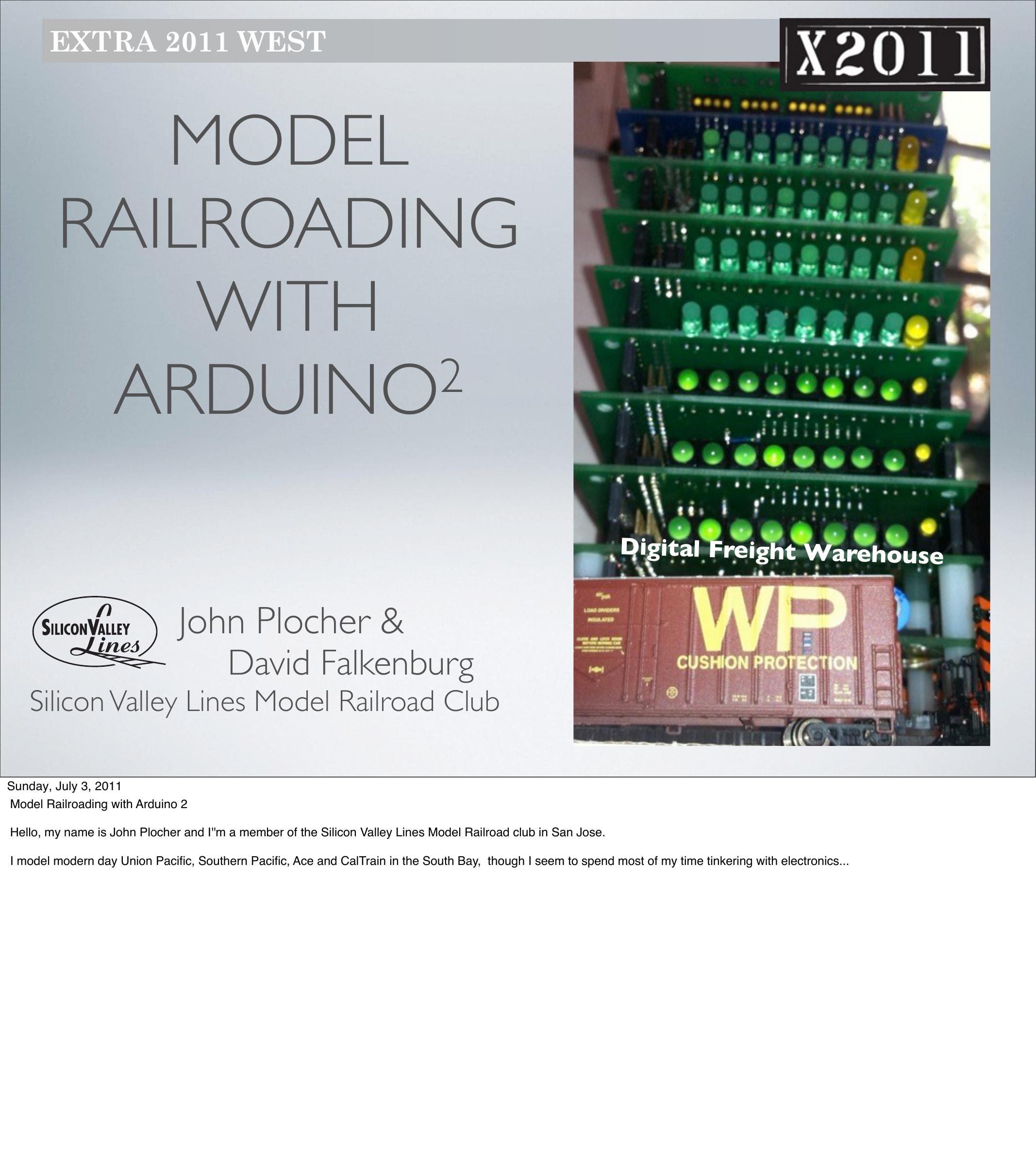 John Plocher - Model Railroading with Arduino   manualzz com