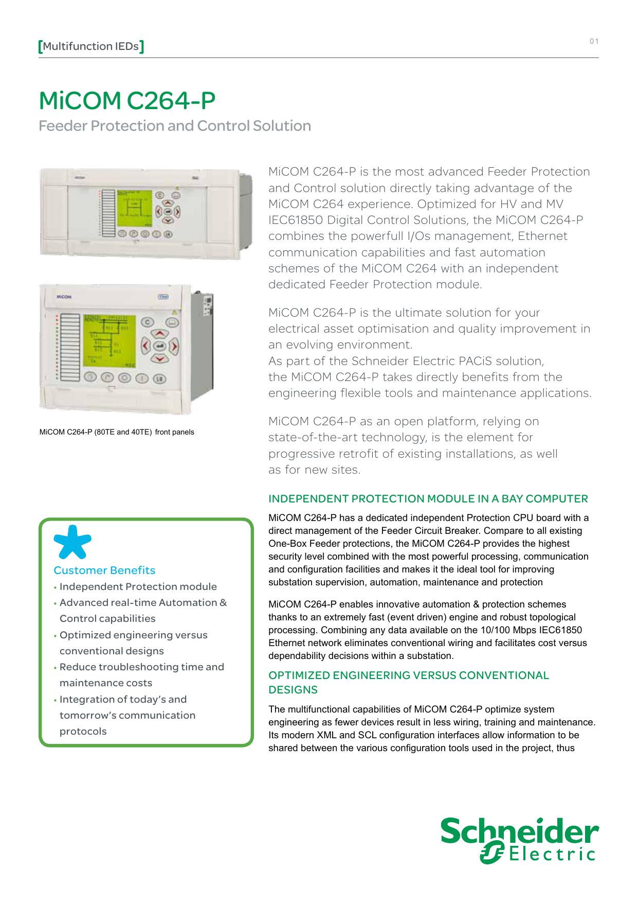 MiCOM C264-P - Elektronický katalog Schneider Electric